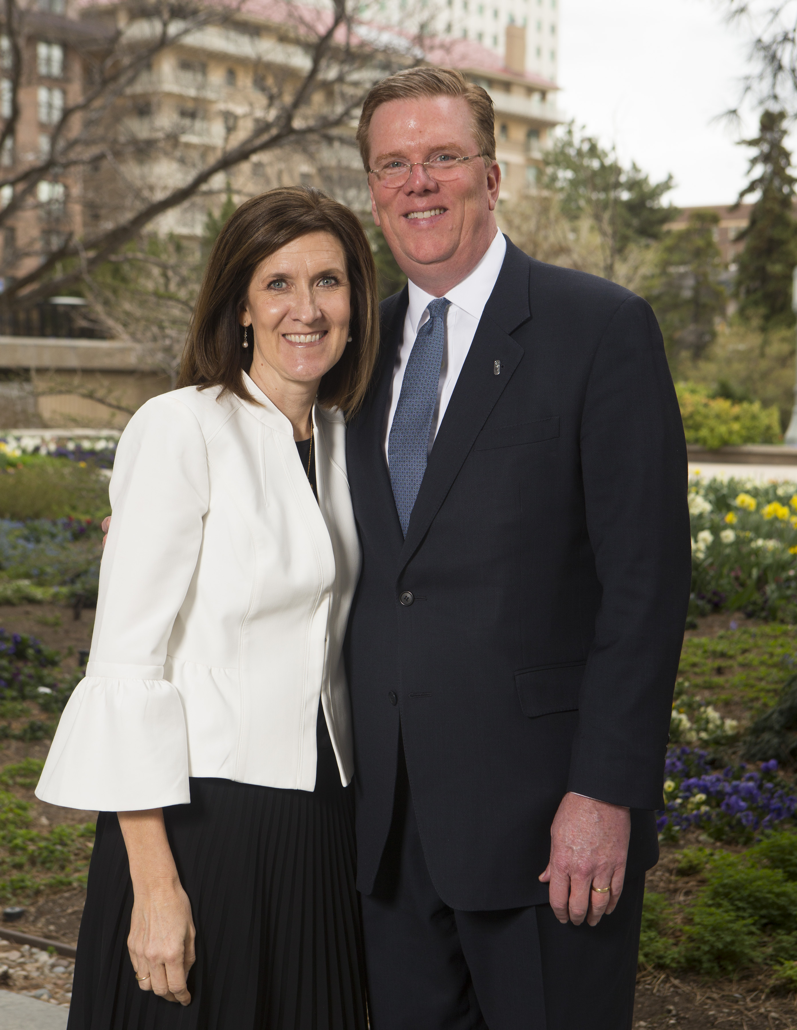 Sister Michelle D. Craig, first counselor in the Young Women general presidency, and her husband, Brother Boyd Craig.