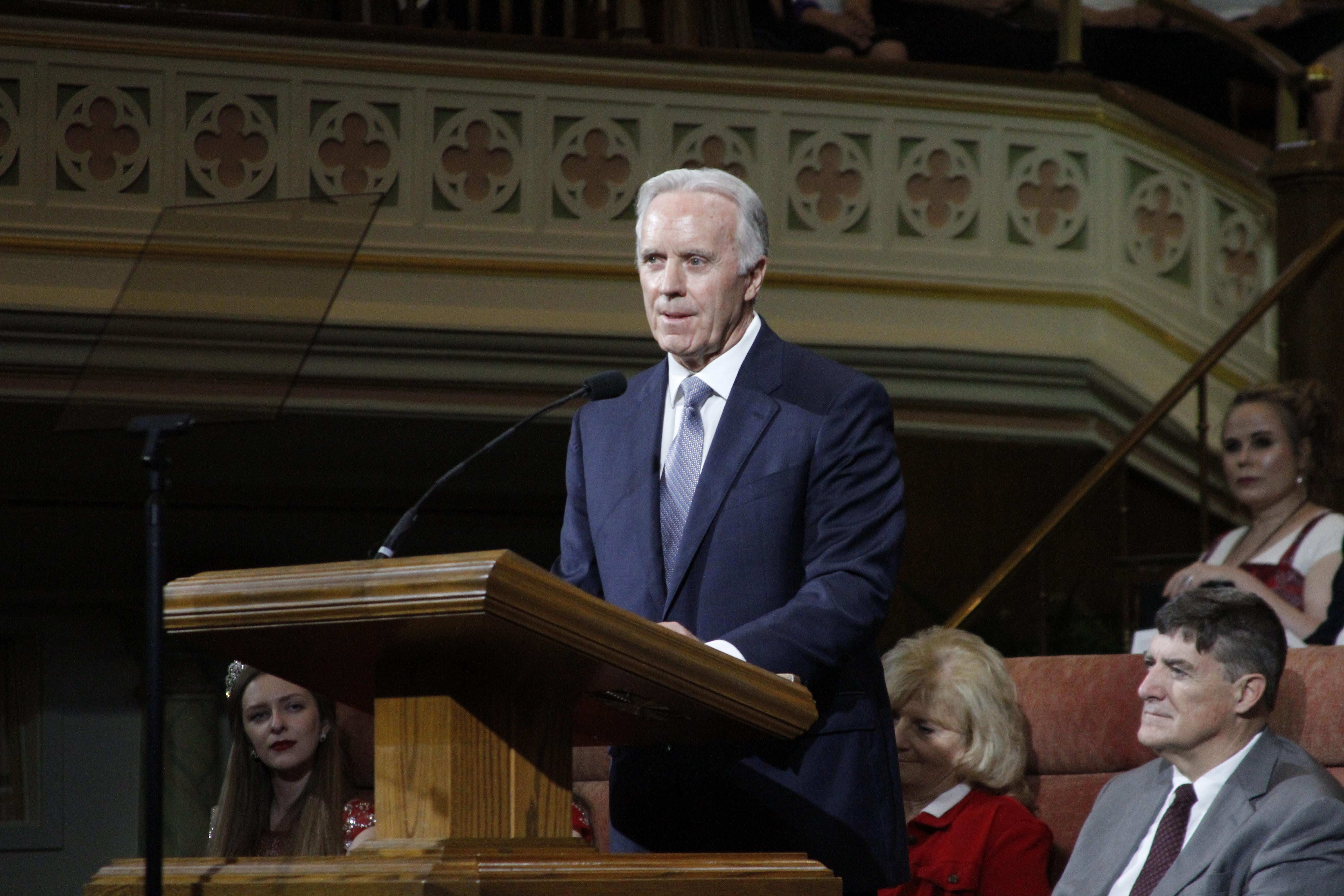 Elder Lawrence E. Corbridge, a General Authority Seventy, speaks at the Days of '47 Sunrise Service in the Assembly Hall on Temple Square July 24, 2019.