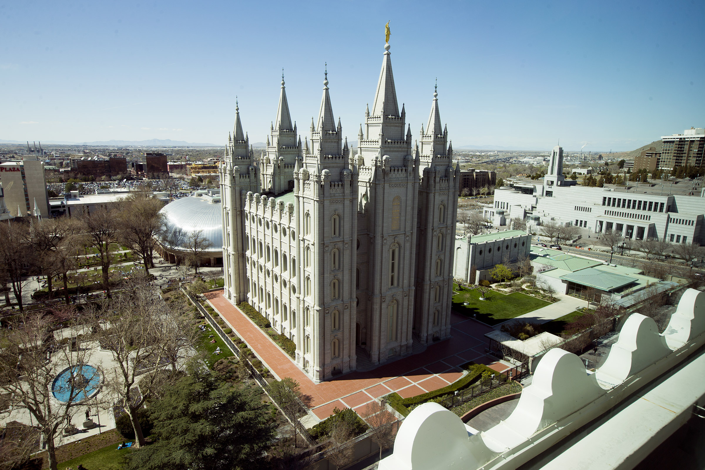 The Salt Lake Temple during the 188th Annual General Conference of The Church of Jesus Christ of Latter-day Saints in Salt Lake City on Sunday, April 1, 2018.