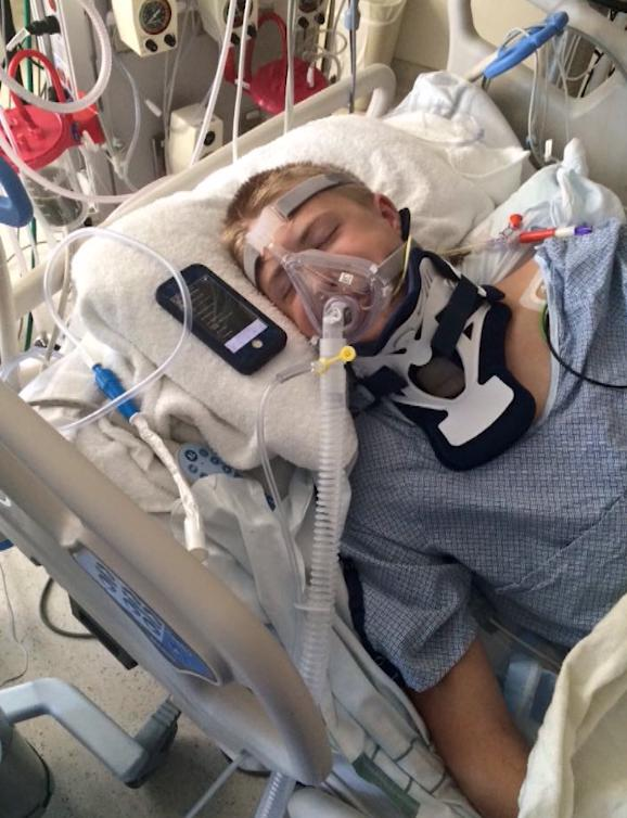 On Aug. 29, 2015, Josh Hinton broke his neck while attending BYU freshman orientation. While in ICU, his mother, Jen Hinton, put his iPhone next to his ear and played music from Alex Boye. She said she could see her son calm down and breath easier.