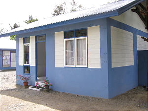 Representative model home is the same type and construction that will be used in Church's humanitarian project to build approximately 1,000 homes in Indonesia.