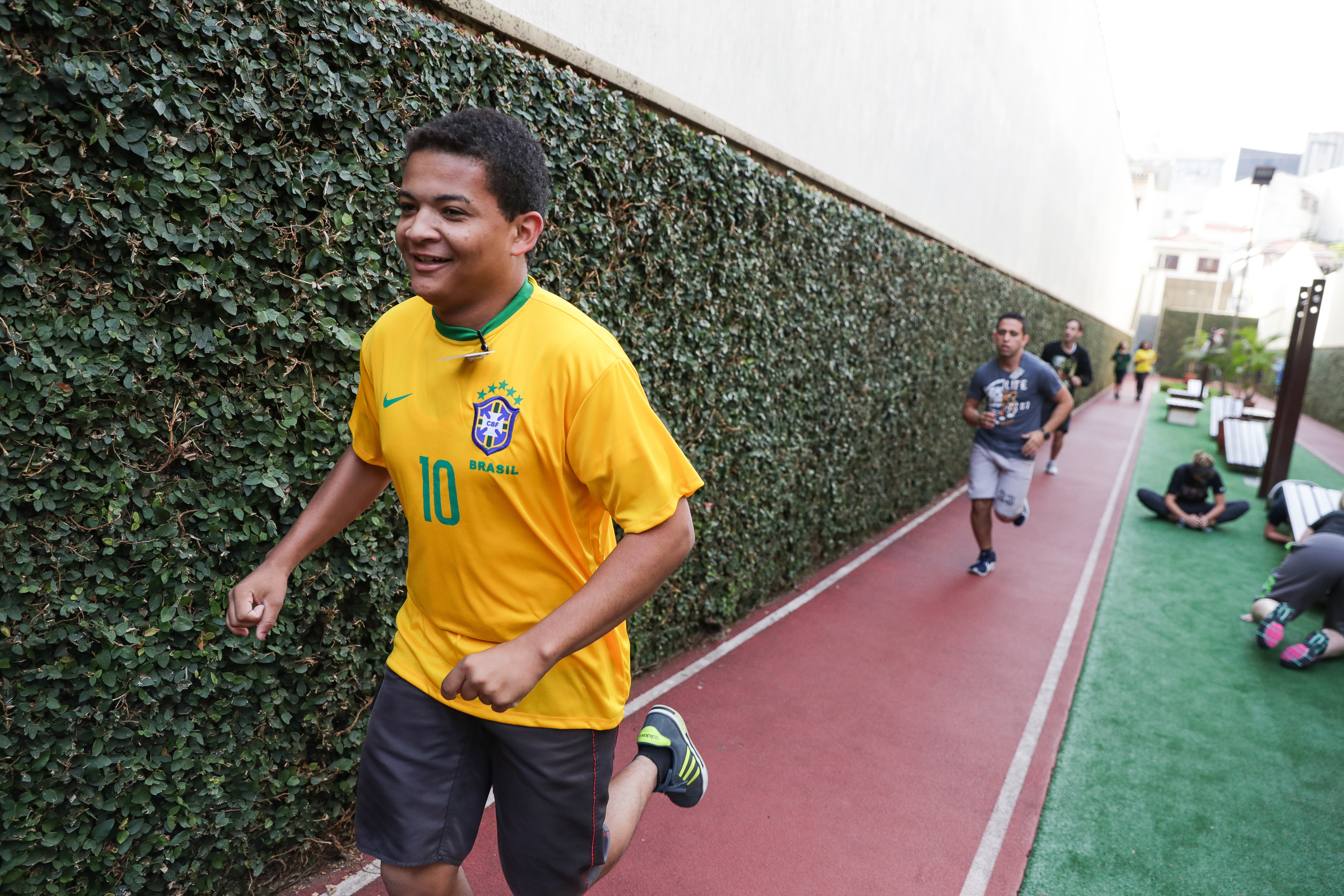 Elder Carlos Bastos, 20, of Rio de Janiero, runs on a track during physical activity at the Brazil Missionary Training Center in Sao Paulo on Thursday, May 24, 2018.