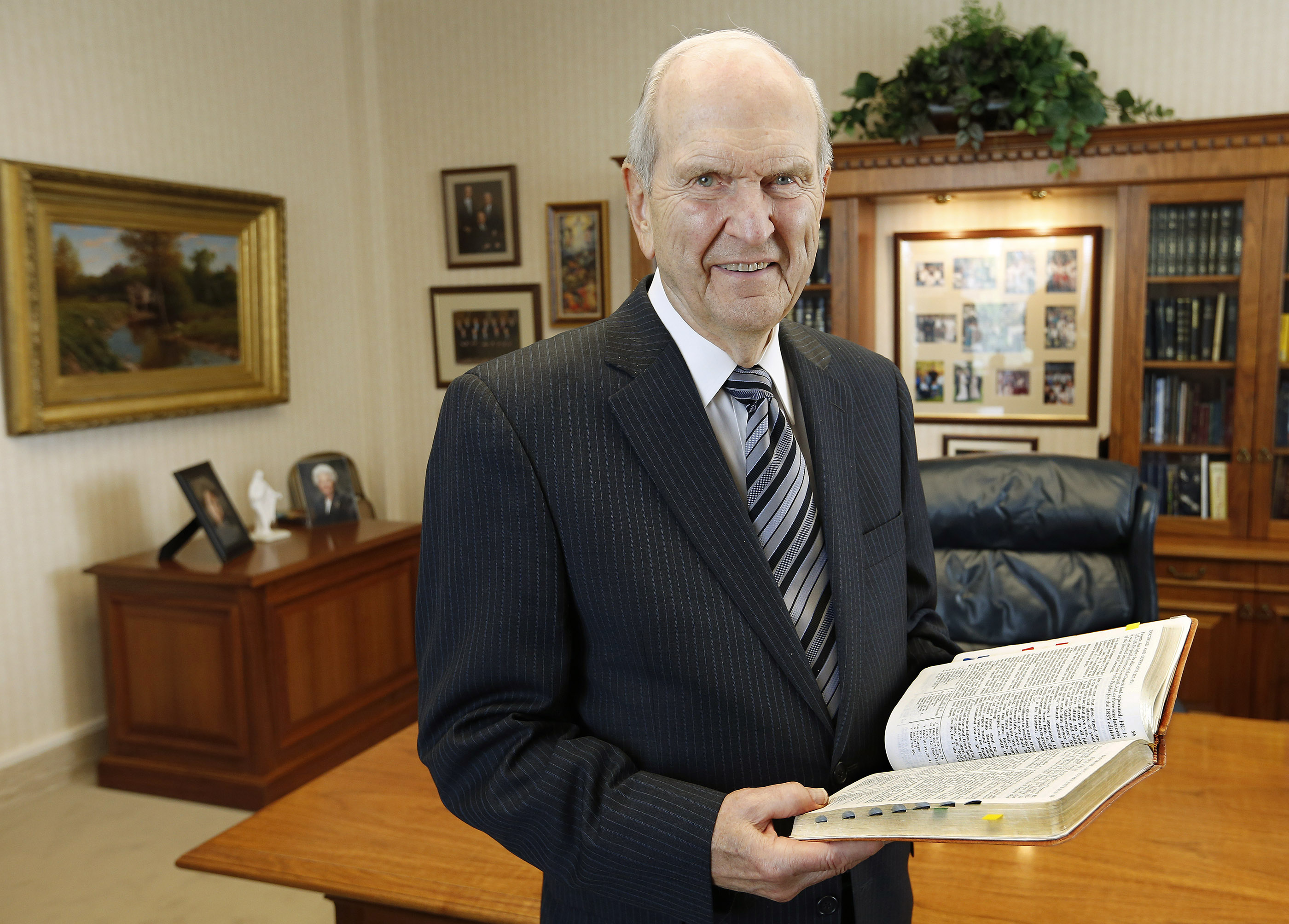 President Russell M. Nelson stands in his office in Salt Lake City on Tuesday, Sept. 29, 2015.