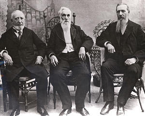 President Lorenzo Snow with counselors George Q. Cannon and Joseph F. Smith.