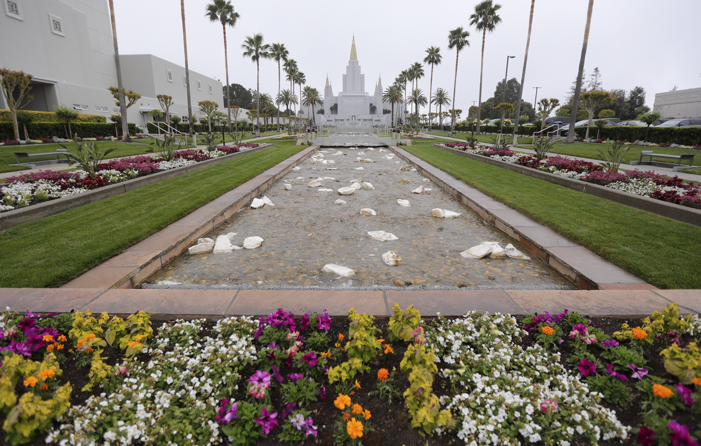 The newly renovated Oakland California Temple, of The Church of Jesus Christ of Latter-day Saints, in Oakland, Calif., on Monday, May 6, 2019.