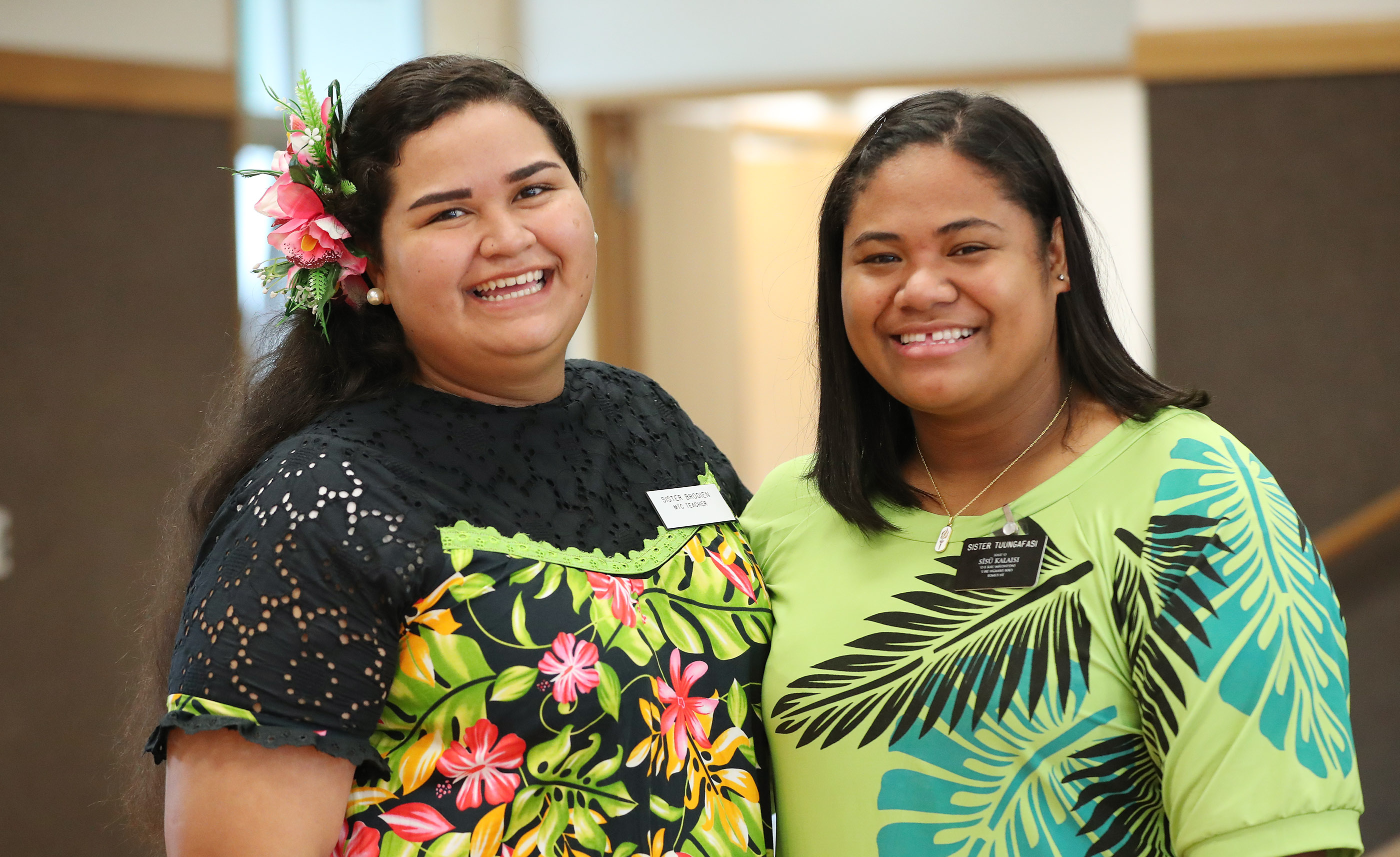 Sister missionaries Matainumera Rayleen and Tusani Tuungafasi in Auckland, New Zealand, on Tuesday, May 21, 2019.