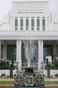 The Laie Hawii Temple was originally dedicated on Thanksgiving Day in 1919. President Thomas S. Monson will rededicate the temple on Sunday, Nov. 21. The temple recently underwent renovation. Thursday, Nov., 18, 2010.