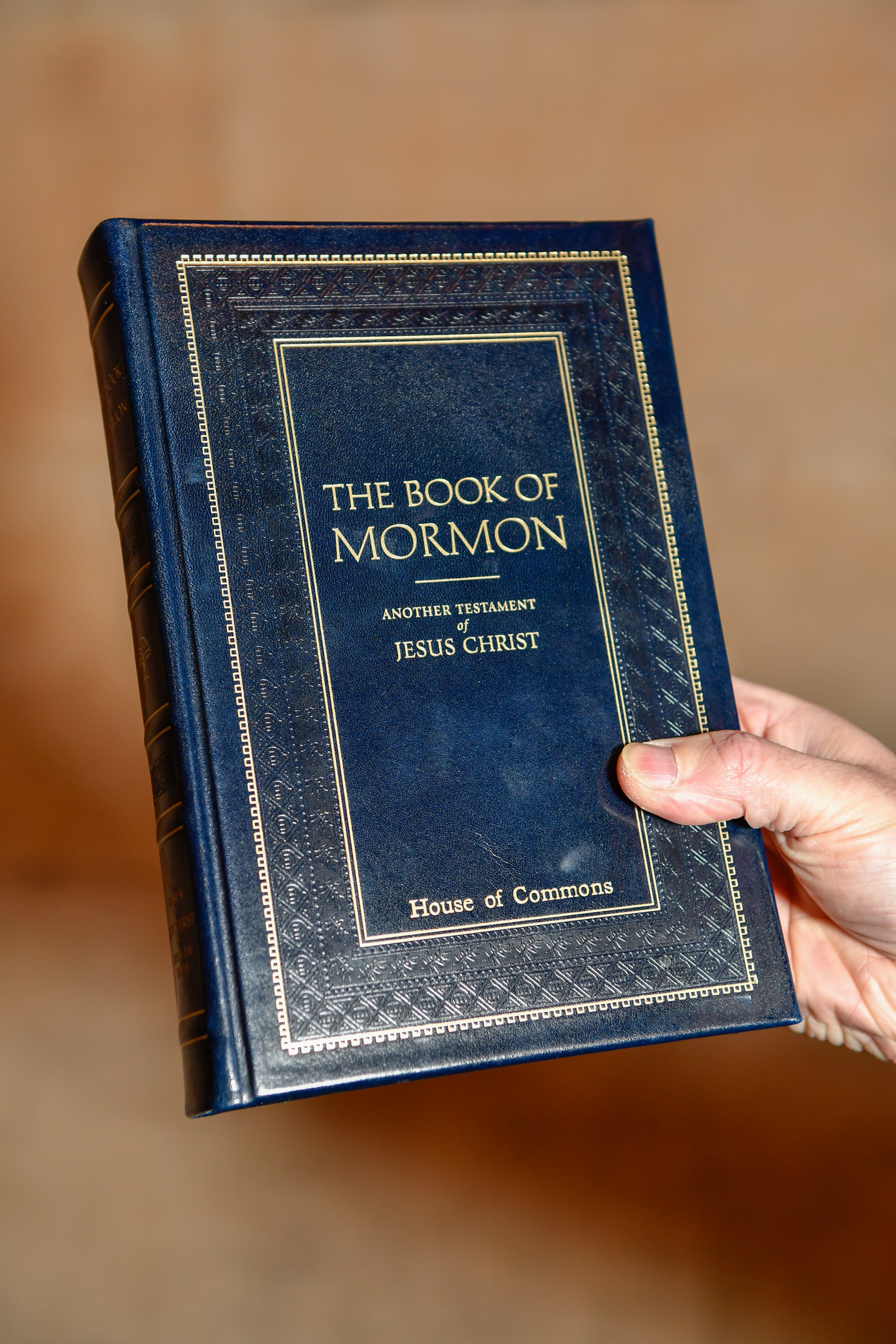 The First Presidency of The Church of Jesus Christ of Latter-day Saints provided a signed inscription inside a gift copy of the Book of Mormon presented by Elder Jeffrey R. Holland of the Quorum of the Twelve Apostles to the British House of Commons at the Palace of Westminster in London on Wednesday, Nov. 21, 2018.
