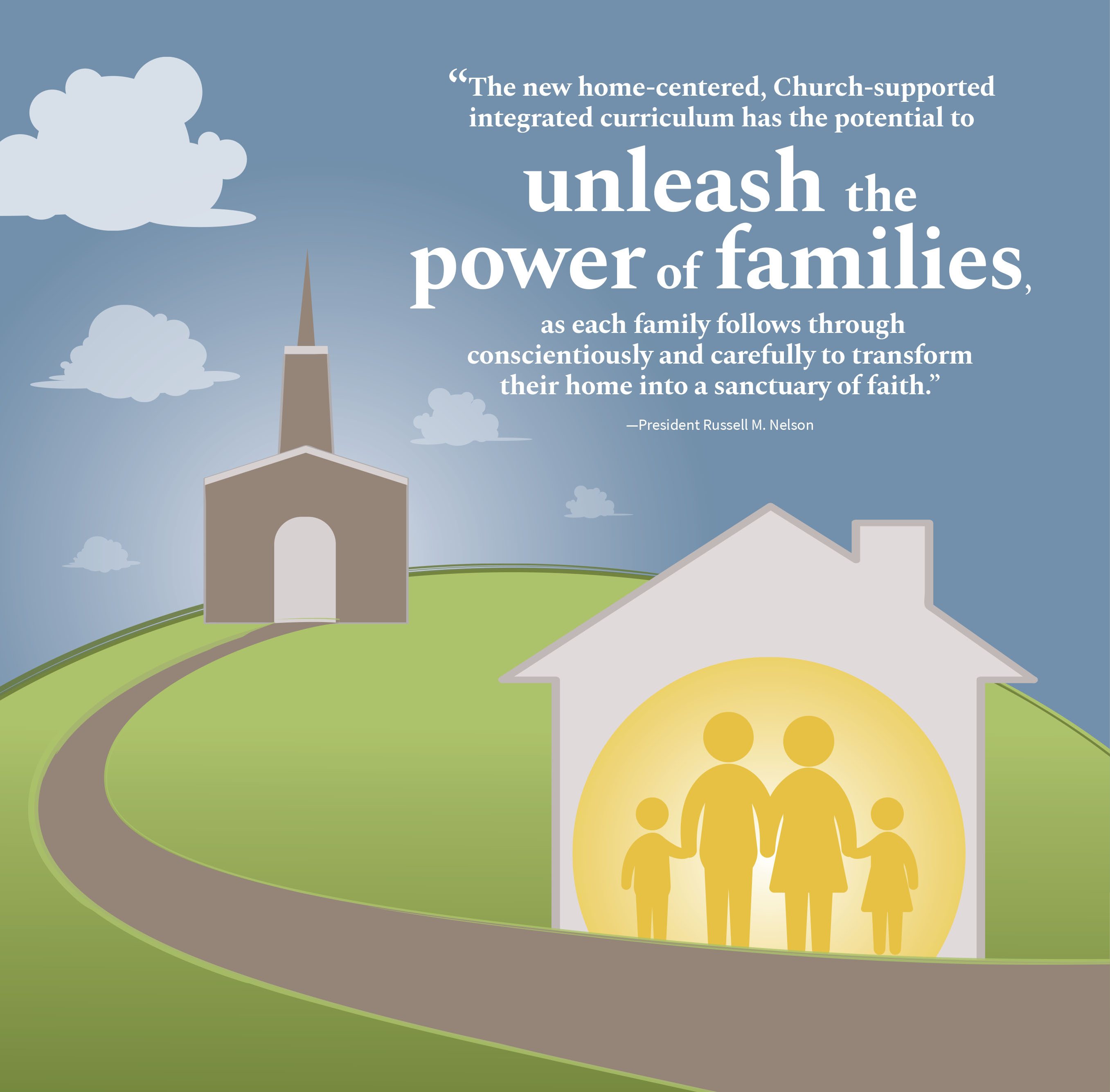 Families using the new home-centered, Church-supported curriculum are beginning to witness the power promised by President Nelson when he announced it during the October 2018 general conference.
