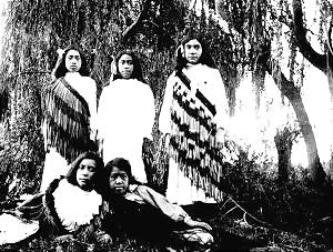 Latter-day Saint young women, reflecting cultural influence of Church combined with Maori traditions, were photographed about turn of 19th century.