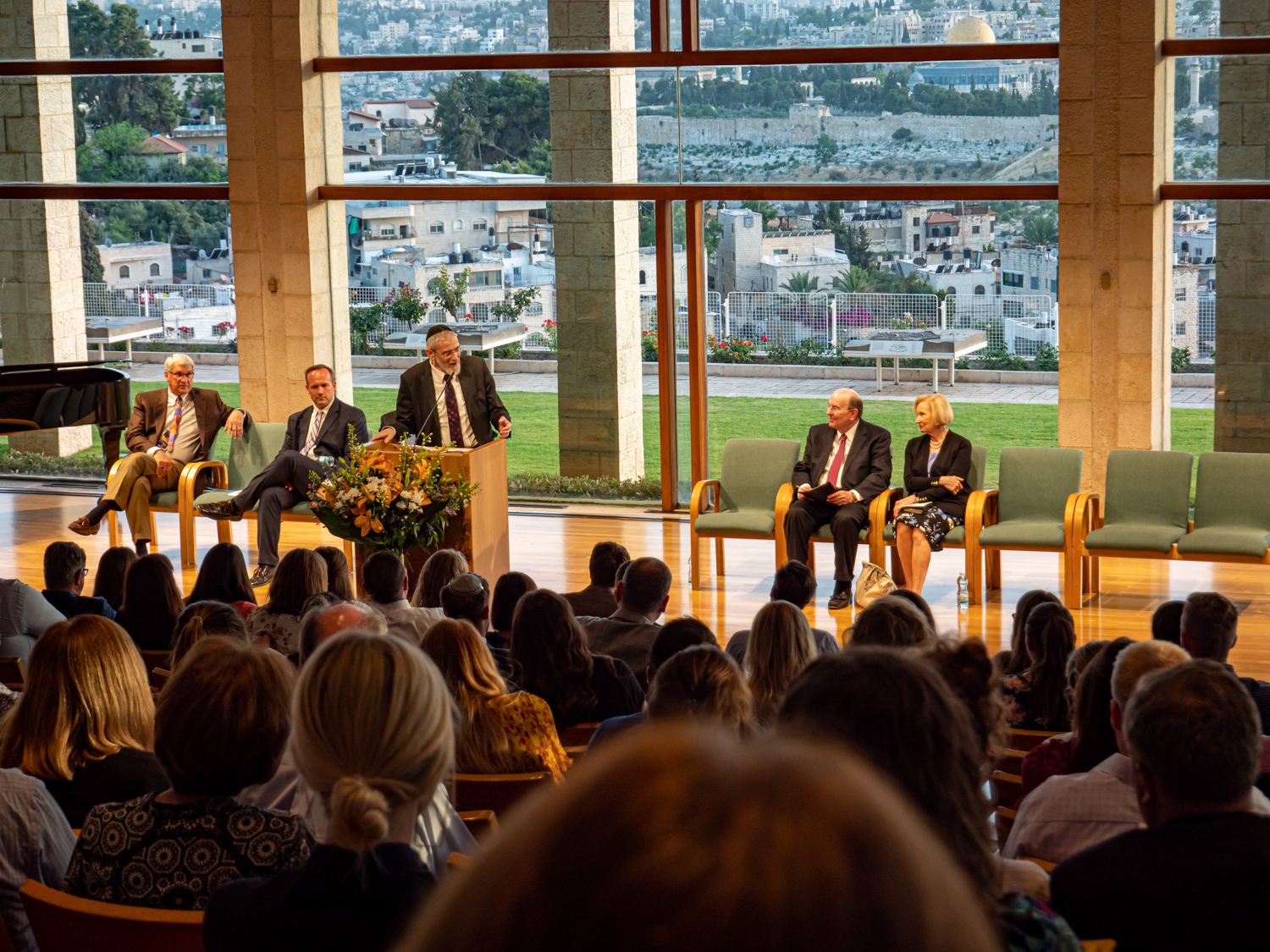 Rabbi Michael Melchior, chief rabbi of Norway, speaks at the semiannual Jewish-Latter-day Saint Dialogue at the BYU Jerusalem Center on June 5.