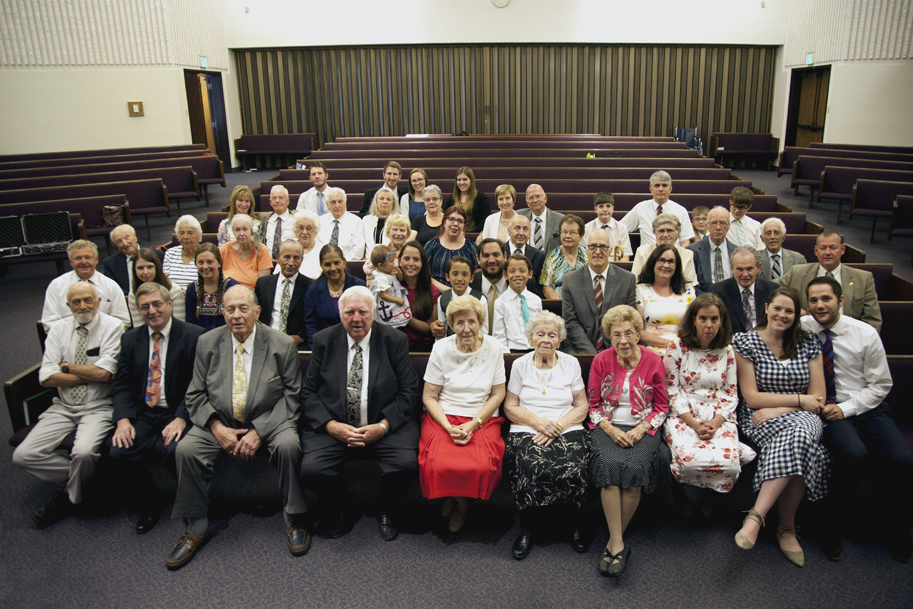 All the members of the German Speaking Ward gathered for a final group photo. The ward held its final sacrament meeting on July 14, 2019.