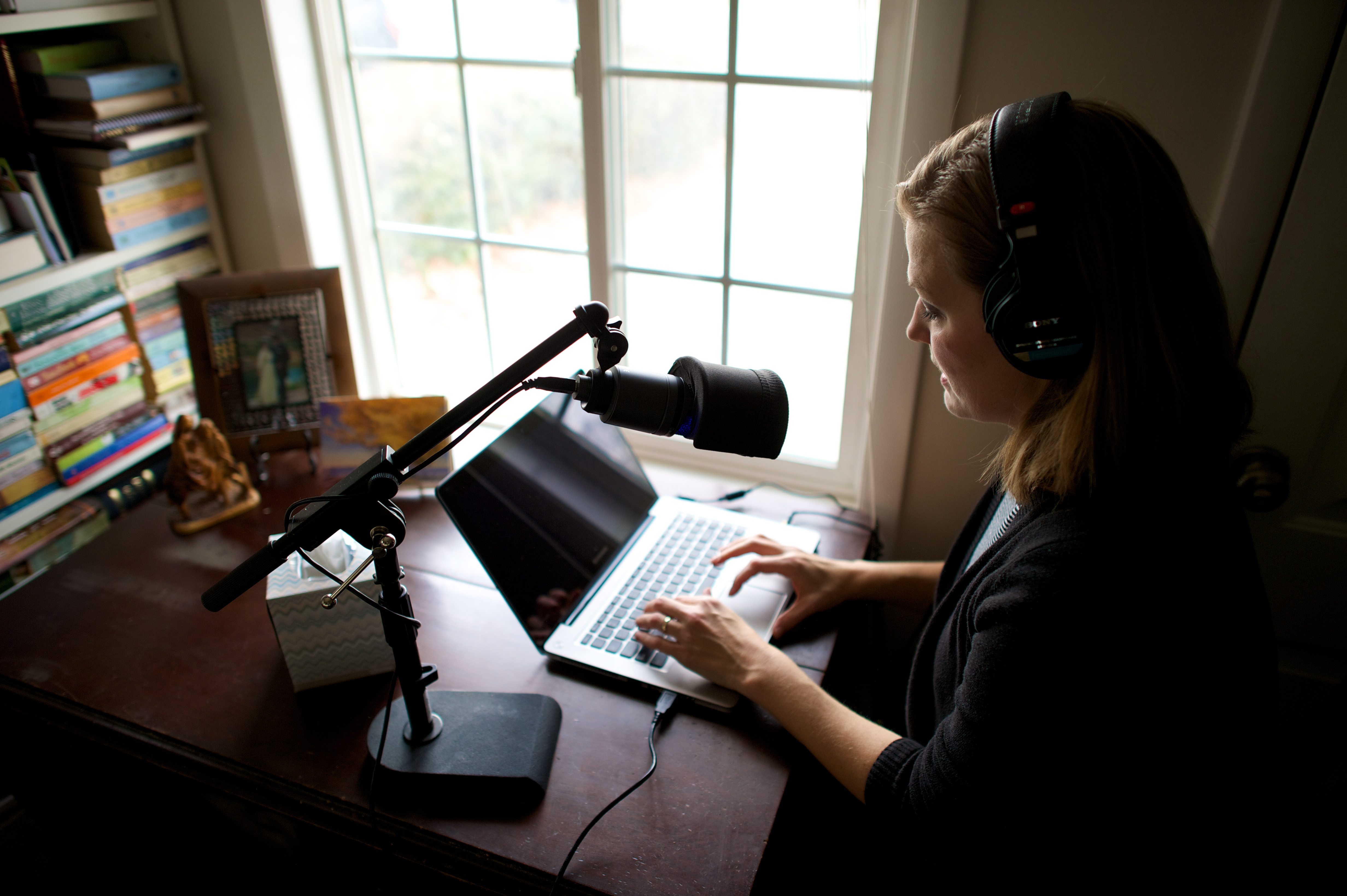 New technologies allow voice talents for The Church of Jesus Christ of Latter-day Saints can now record audio of scripture translations at home before sending them in for approval.