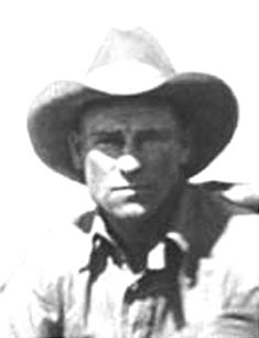 A photo taken in 1932 shows Earl Bascom as a hard-working cowboy.