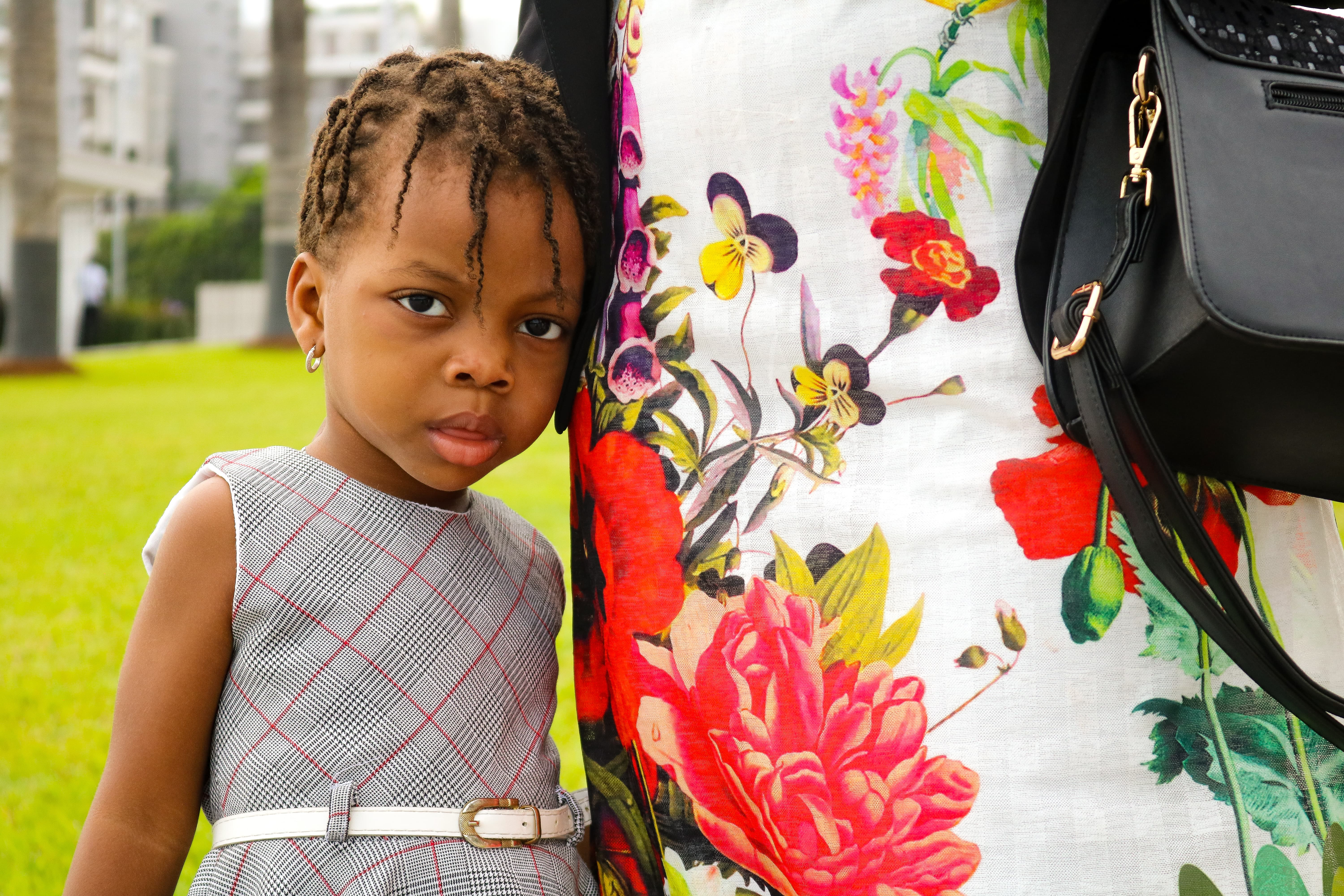 A young Latter-day Saint child attends the cornerstone ceremony in conjunction with the dedication of the Kinshasa Democratic Republic of the Congo Temple on Sunday, April 14, 2019.