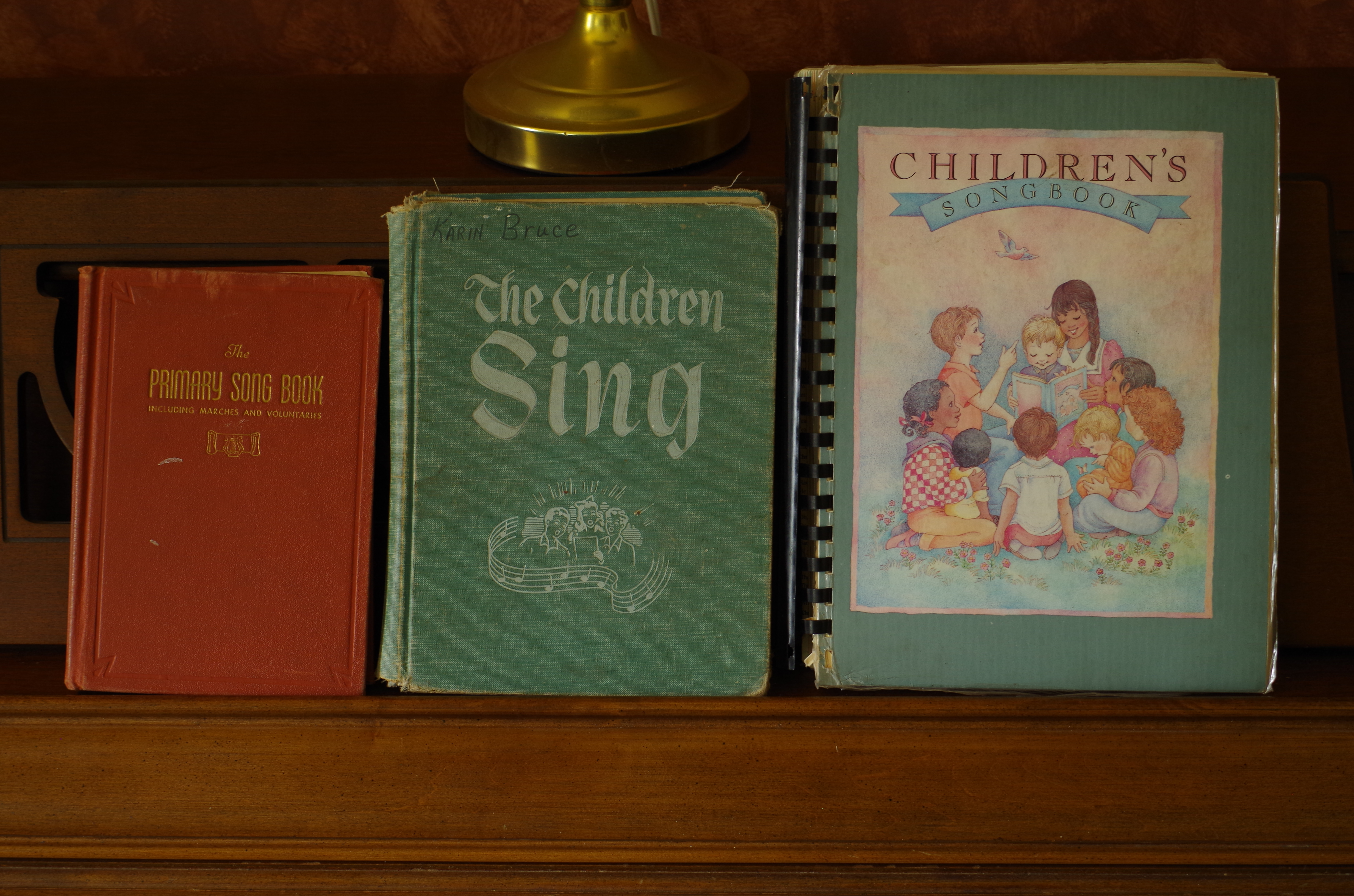 Various publications of the Church's songs for children, including the current Children's Songbook. The Church has announced it is revising the hymnbook and children's songbook and invites members to participate.