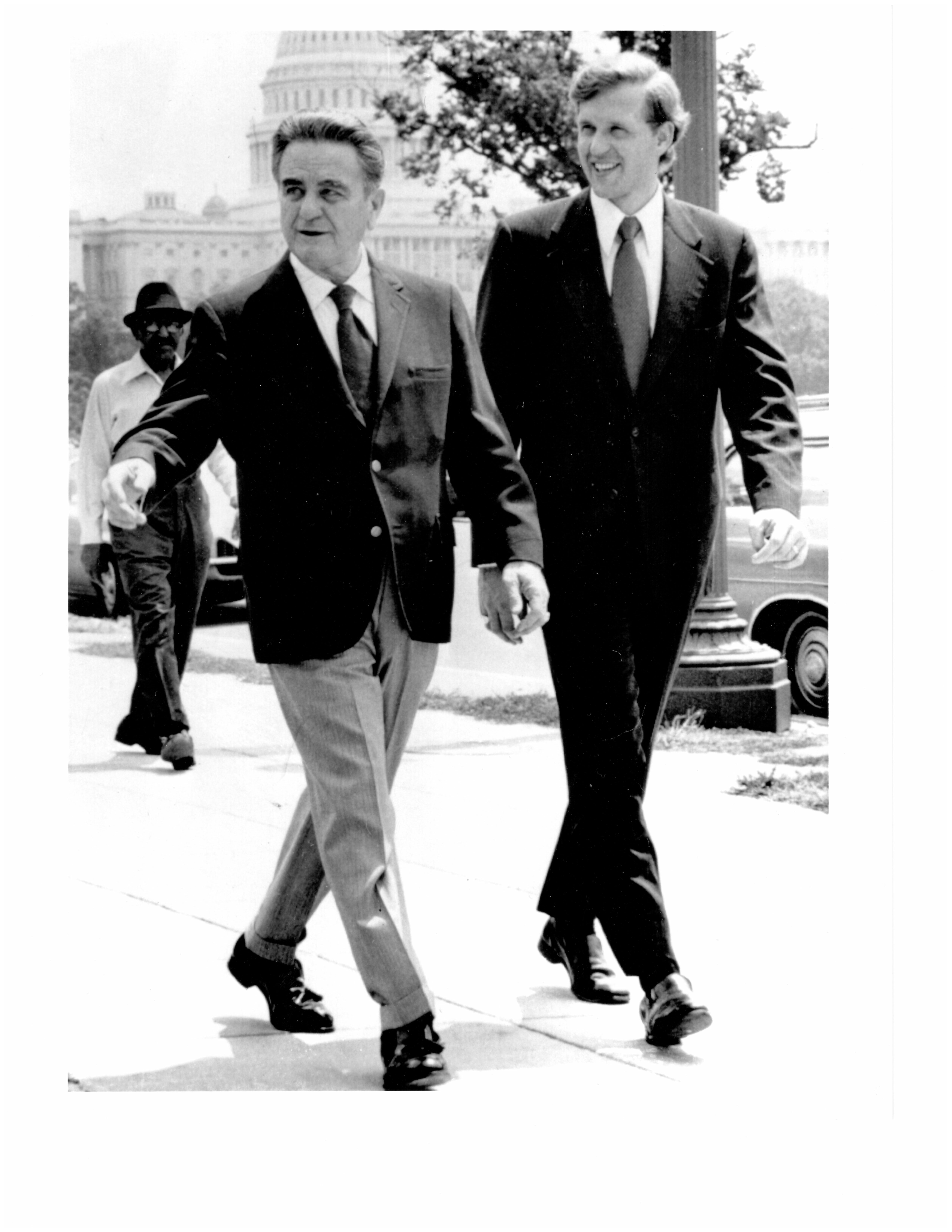 Elder D. Todd Christofferson of the Quorum of the Twelve Apostles with Judge John Sirica of the United States District Court in Washington, D.C. in the early 1970s. Elder Christofferson was Judge Sirica's law clerk during the Watergate trials.
