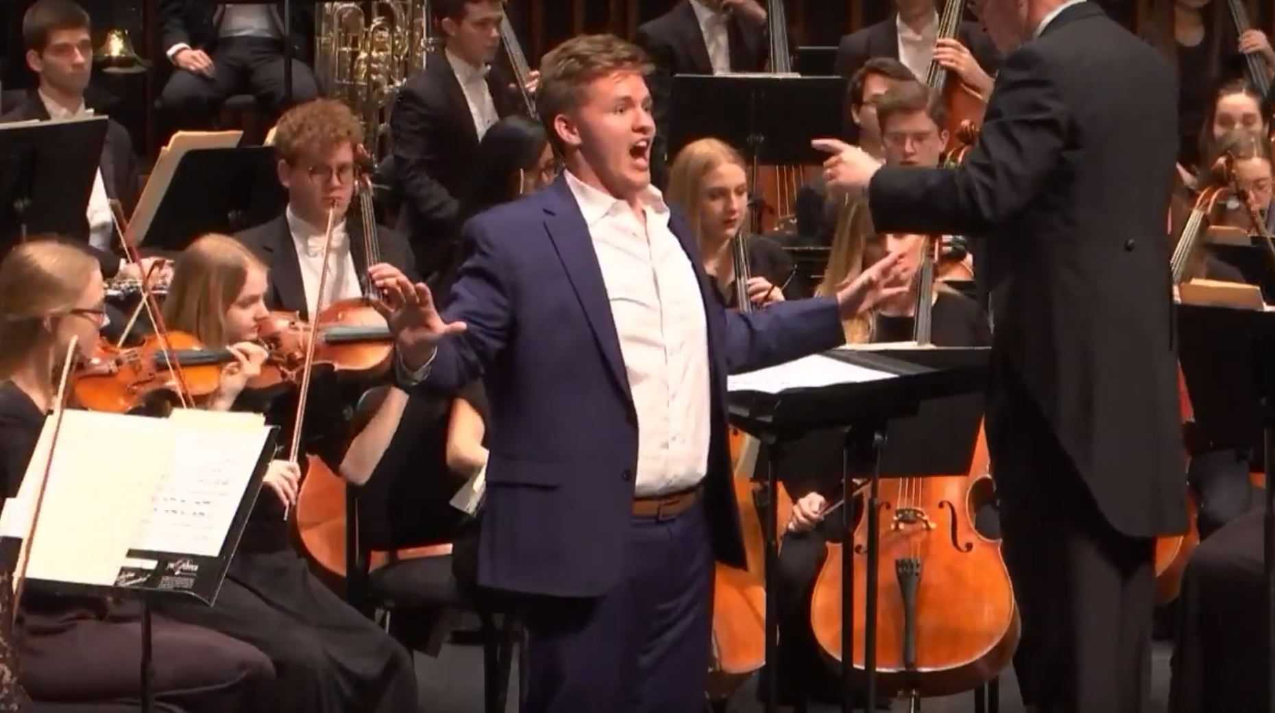 Latter-day Saint opera singer Jonah Hoskins sings with the BYU Philharmonic Orchestra.