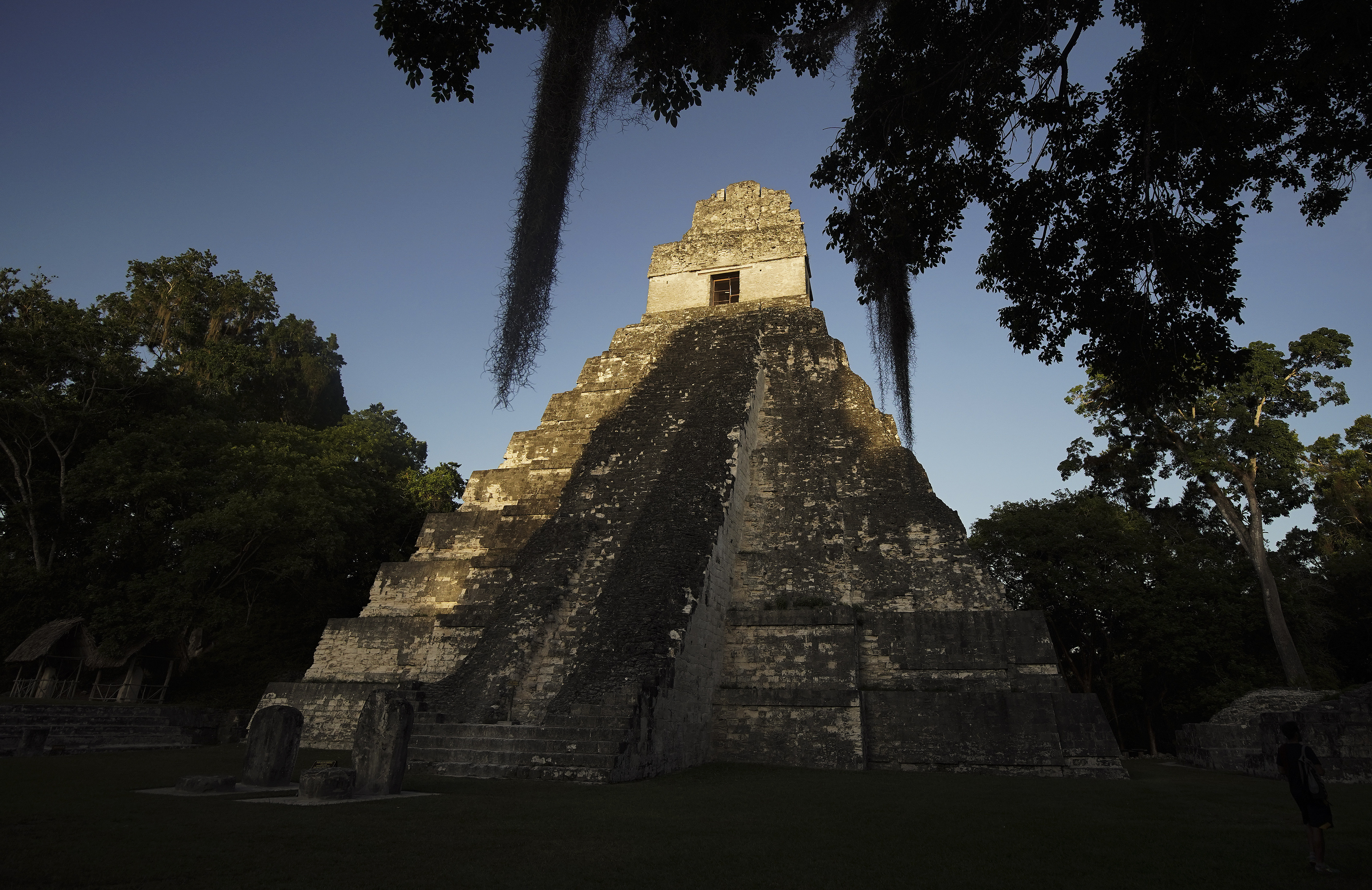 The sun sets on Mayan temple I in Tikal, Guatemala, on Thursday, Aug. 22, 2019. President Russell M. Nelson of The Church of Jesus Christ of Latter-day Saints spoke in a devotional in Guatemala City on Saturday, Aug. 24.