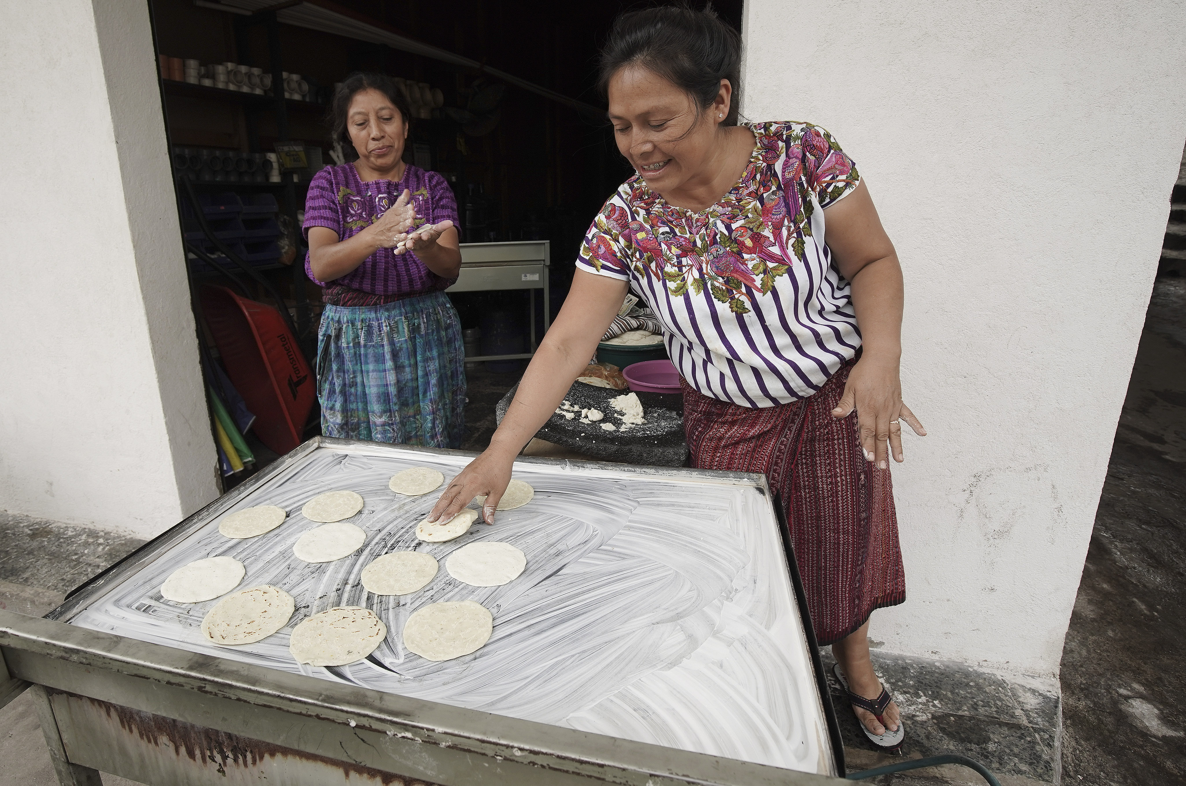 Women make corn tortillas in Santiago, Guatemala, on Sunday, Aug. 18, 2019. President Russell M. Nelson of The Church of Jesus Christ of Latter-day Saints spoke in a devotional on Saturday, Aug. 24, in Guatemala City.