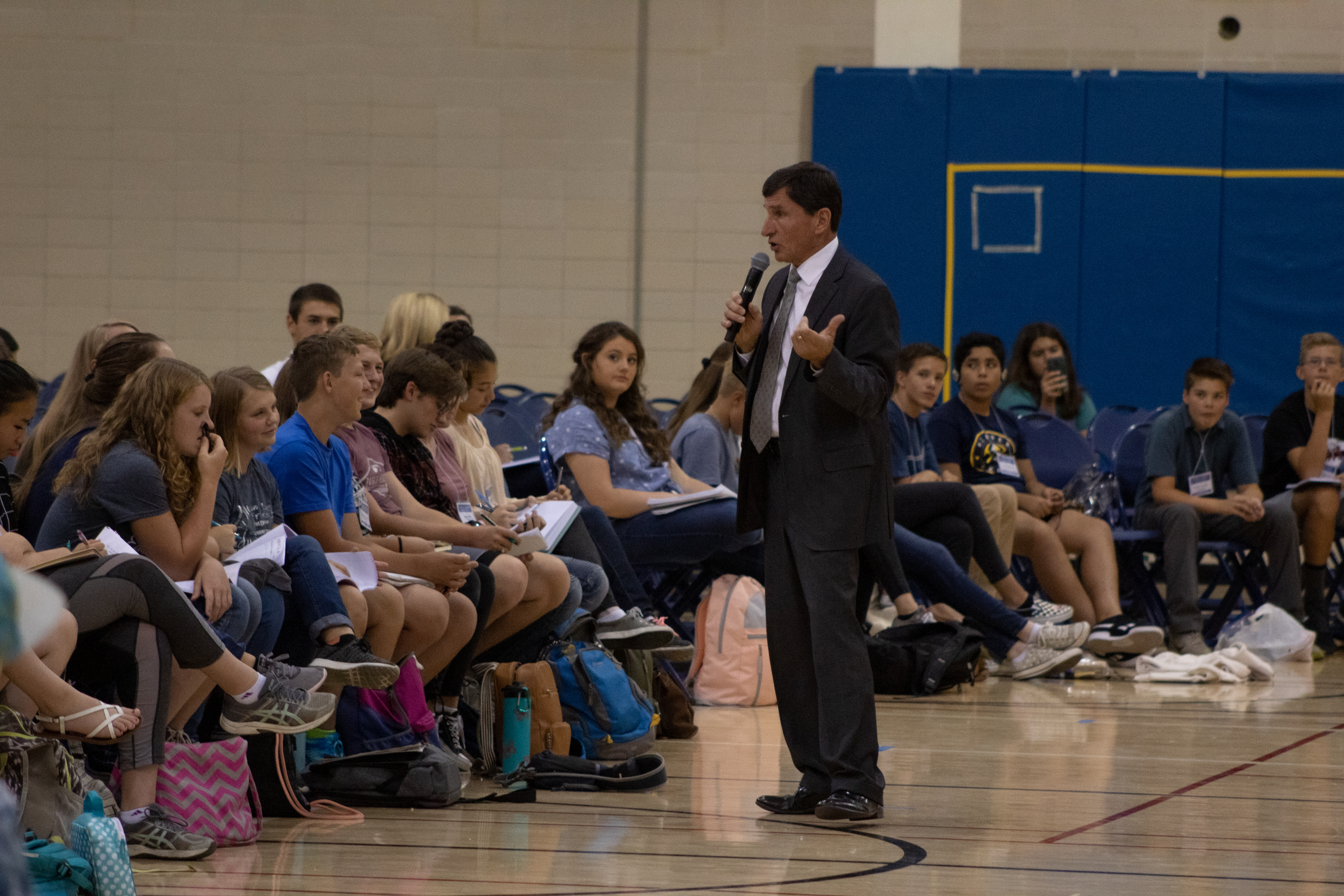 Scott L. Anderson instructs youth during Education Week at BYU.