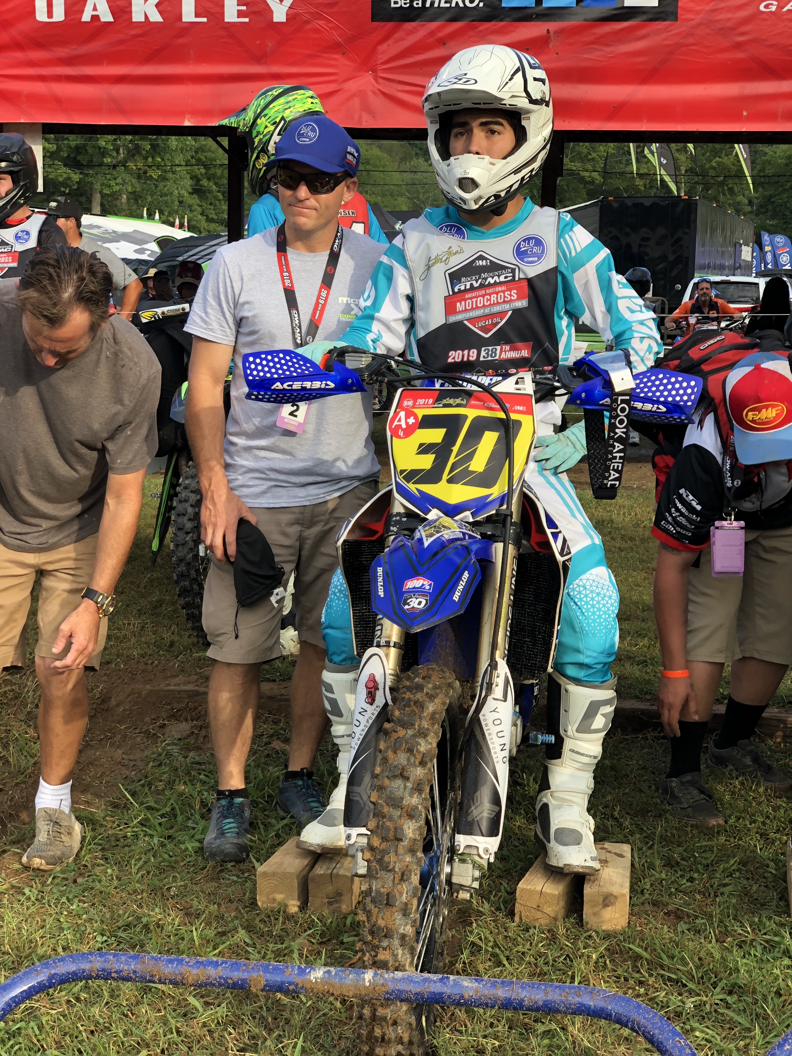 """Rene """"R.J."""" Rodriguez recently honored Hunter Syddall by wearing his No. 30 at the 38th Annual Rocky Mountain ATV/MC AMA Amateur National Motocross Championship at Loretta Lynn Ranch in Tennessee."""