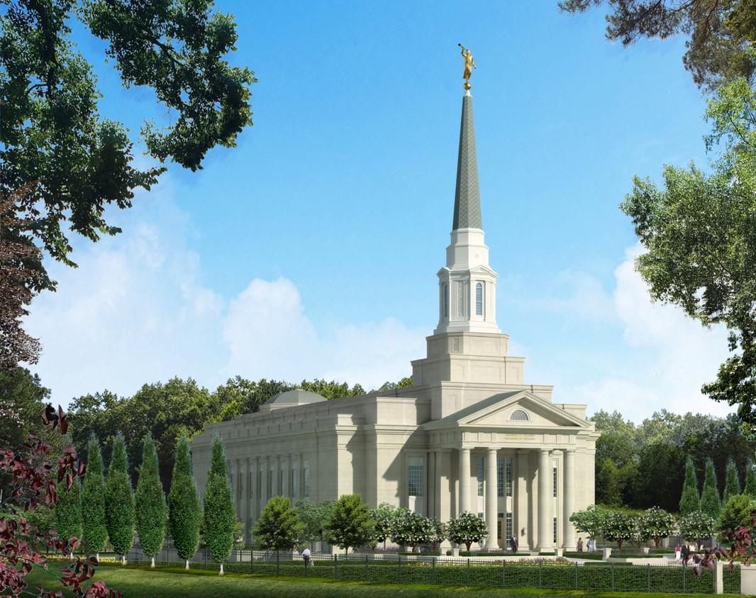 Rendering of the Richmond Virginia Temple