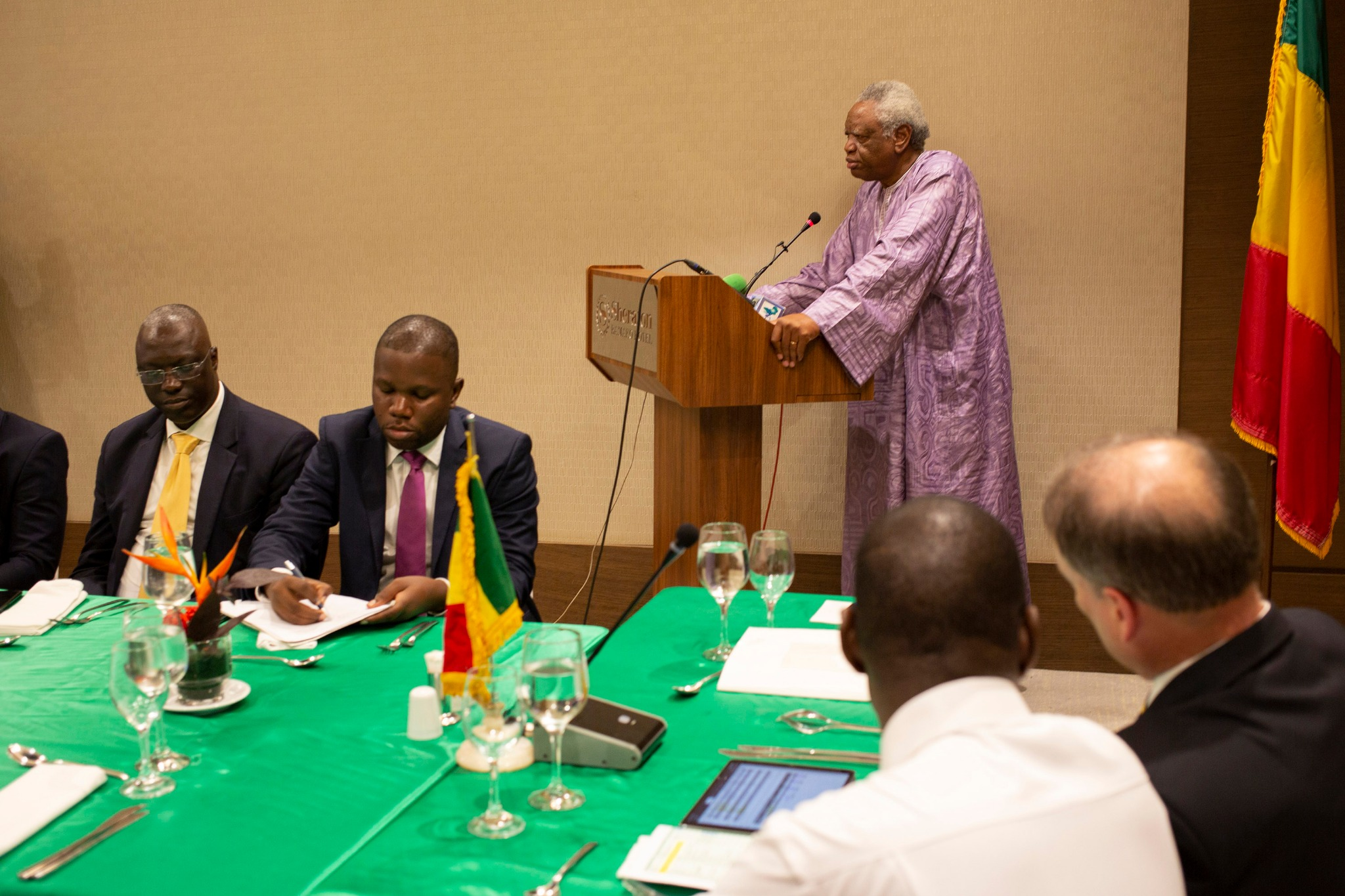 Daniel Thera, Minister of Religious Activities, speaks during the recognition meeting of The Church of Jesus Christ of Latter-day Saints on Sept. 12, 2019 in Bamako, Mali.