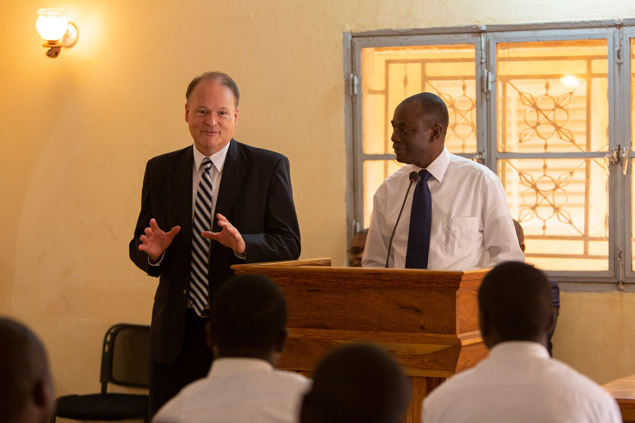 Elder Marcus B. Nash, General Authority Seventy and president of the Africa West Area, discusses the details of the official religious recognition of The Church of Jesus Christ of Latter-day Saints by Mali, Sept. 12, 2019.