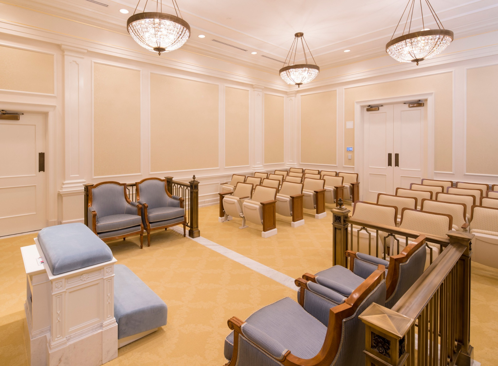 An instruction room in the Raleigh North Carolina Temple.