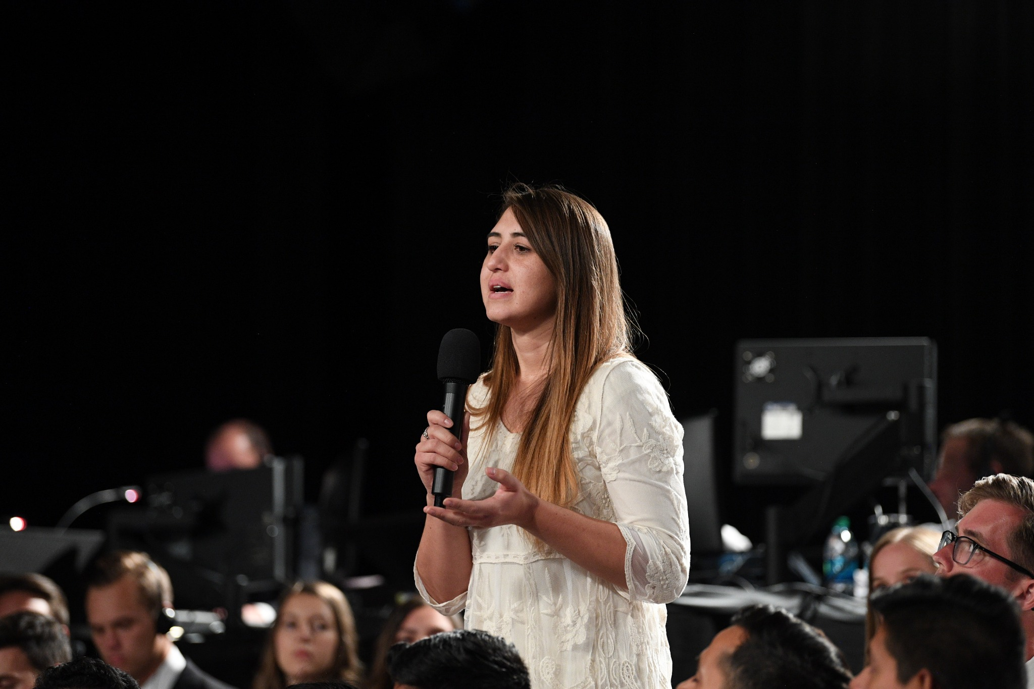 Young adults in the Face to Face broadcast audience asked questions of the two Church leaders on September 15, 2019.