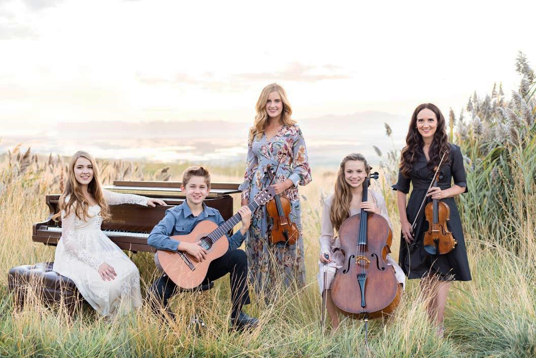 Grammy-nominated violinist Jenny Oaks Baker and her four children — three on string instruments and one on piano, compose Family Four. They will perform during President Nelson's birthday celebration on Sept. 6, 2019.