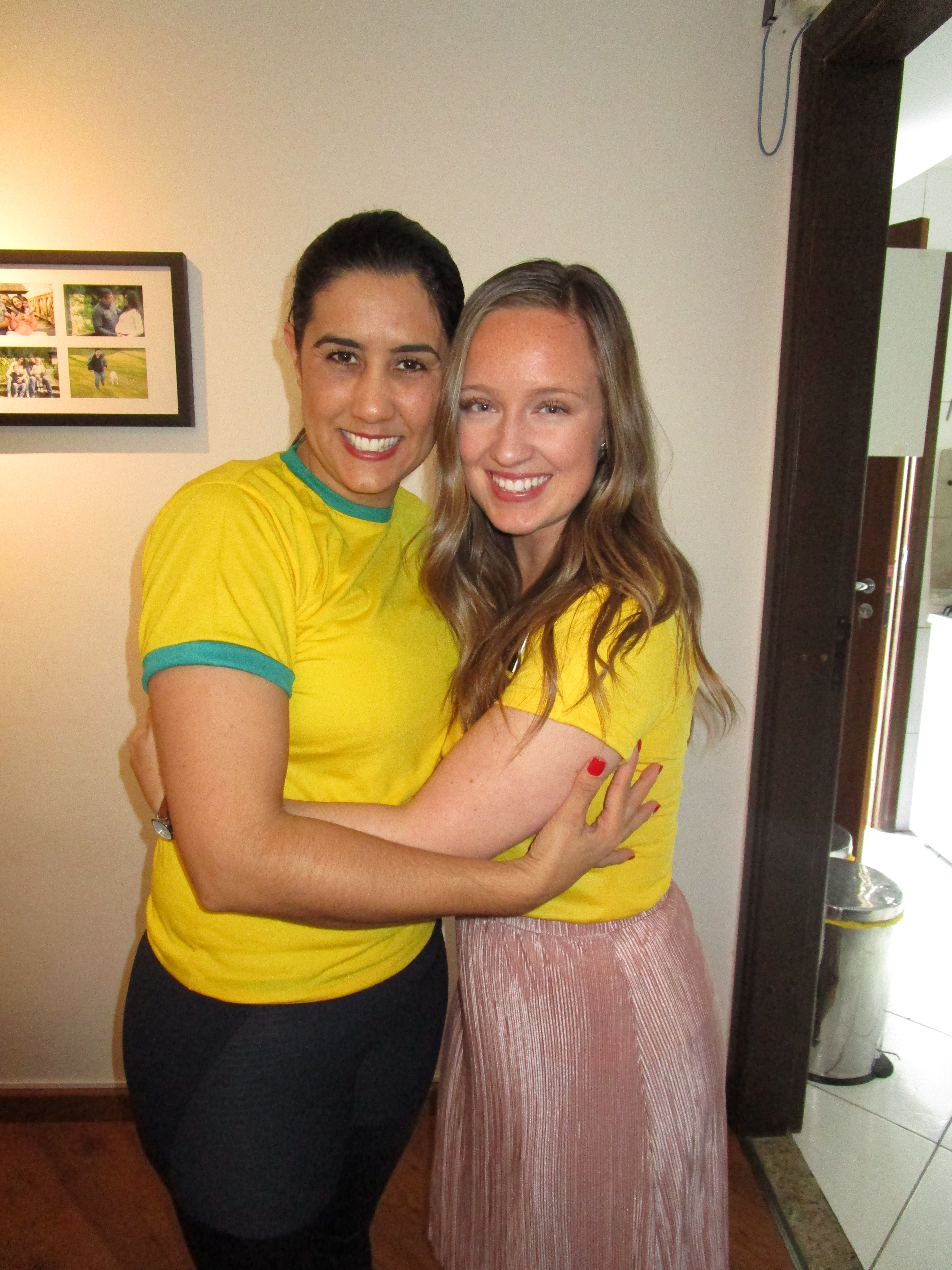 Monique McDown with Andreia Rodrigues. Rodrigues was with McDown every day after the accident.