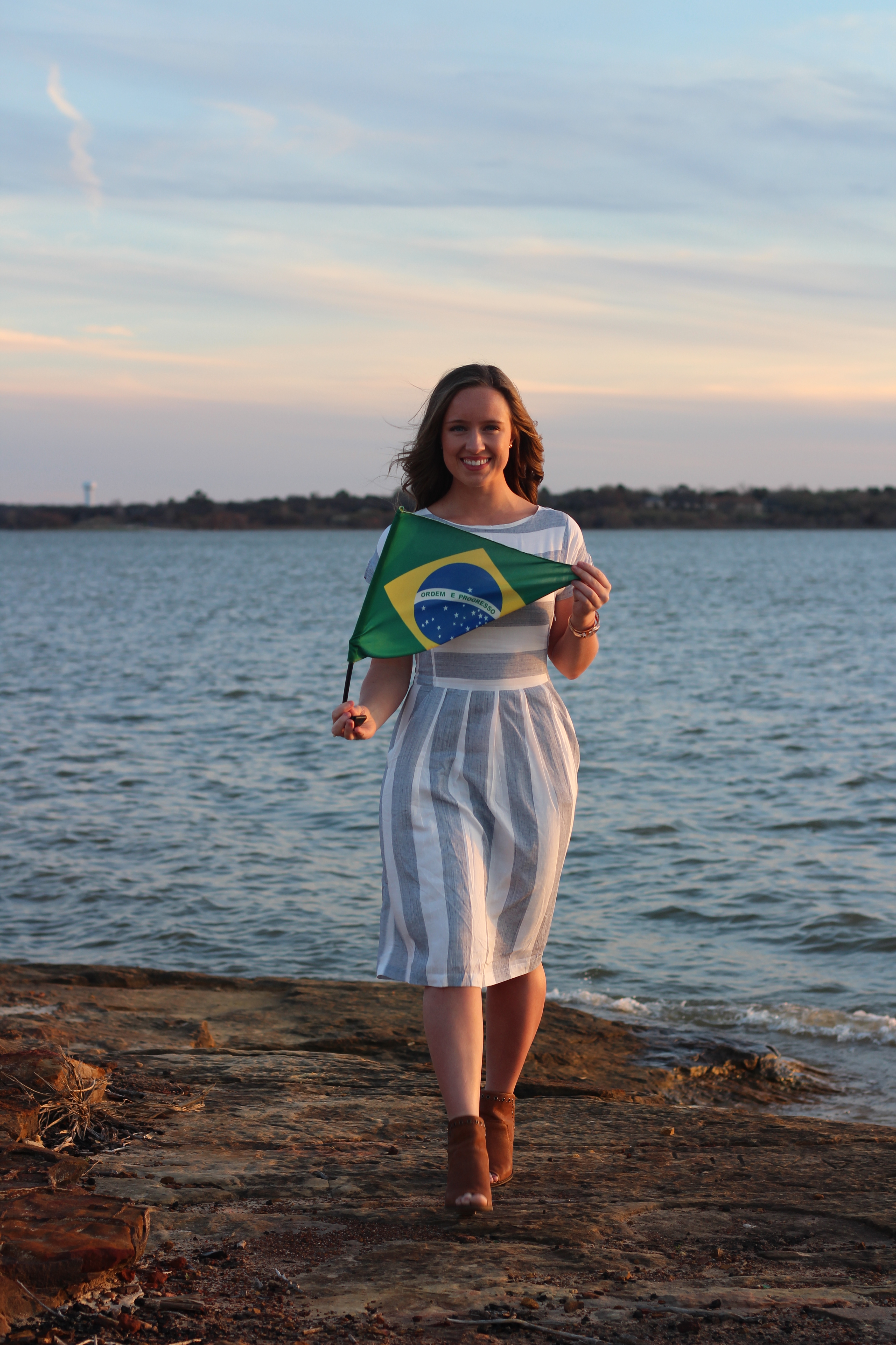 Monique McDown before serving her mission in Curitiba, Brazil.