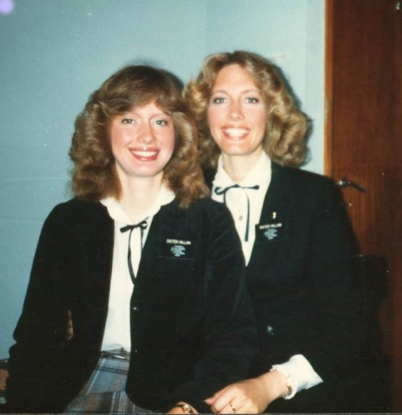 Sister Bonnie H. Cordon, left, is pictured with her sister, Linda. Both were missionaries in the Portugal Lisbon Mission and served as companions.