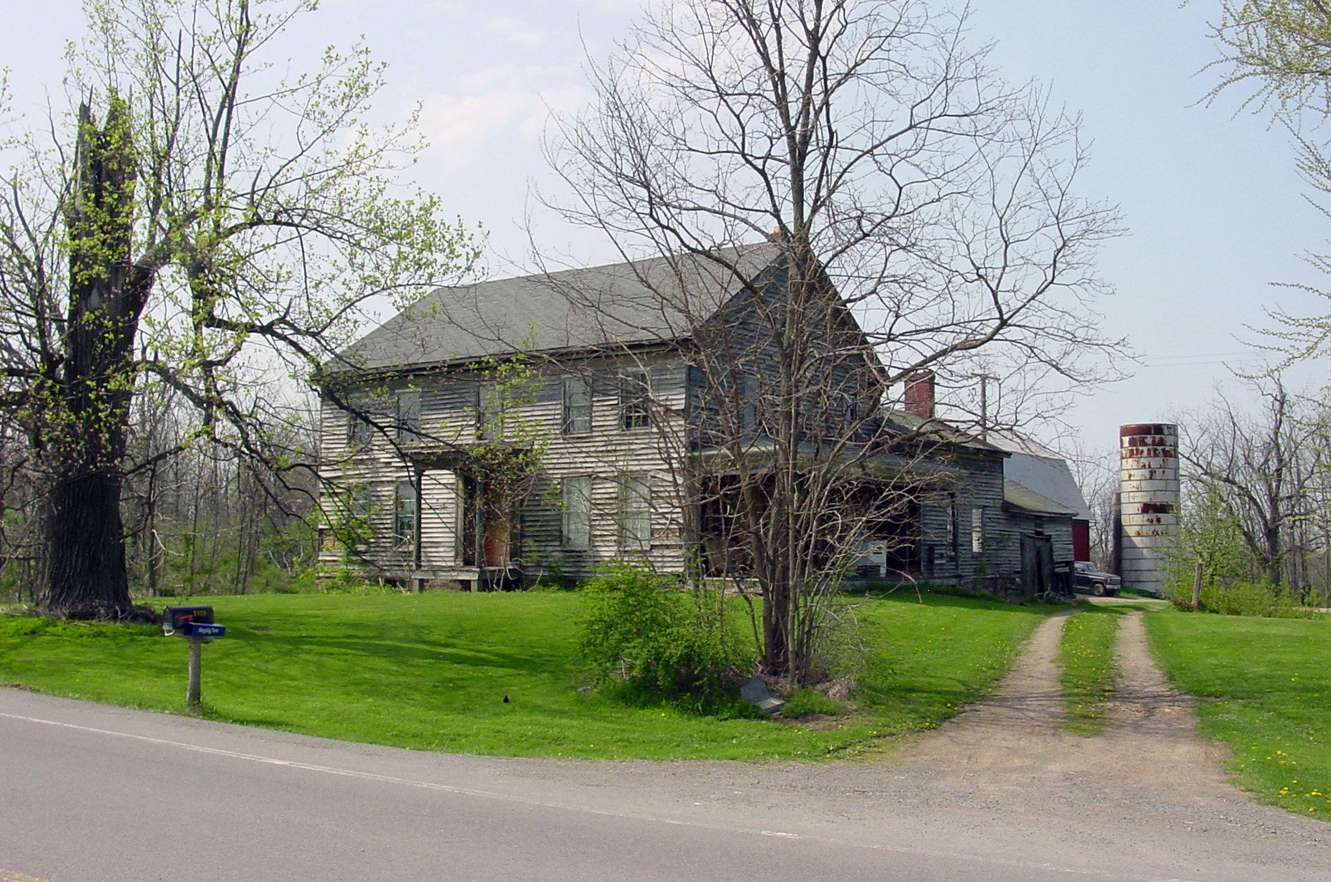The Lemuel Durfee home in Palmyra, New York, which is no longer extant.