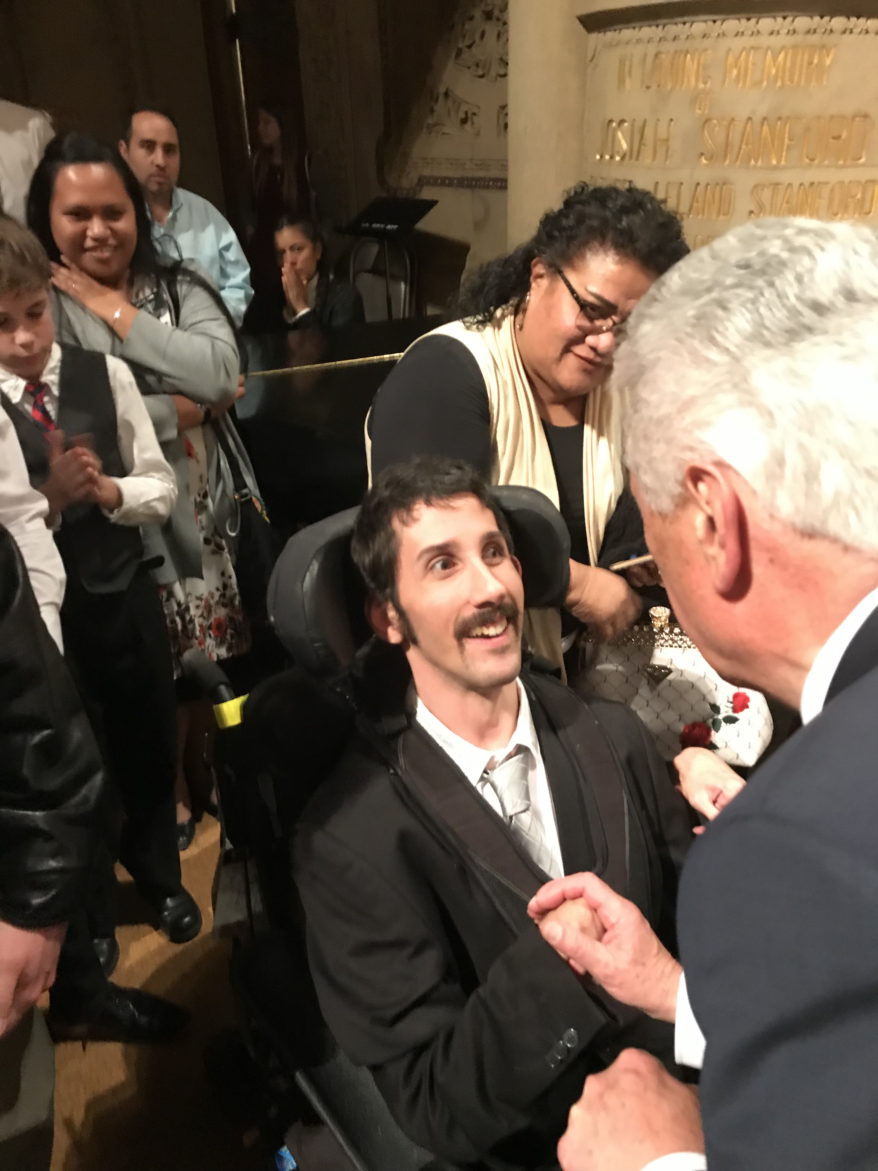 Elder Dieter F. Uchtdorf meets with students in Palo Alto, California, for a devotional sponsored by the Latter-day Saint Student Association at Stanford University on Oct. 27, 2019.