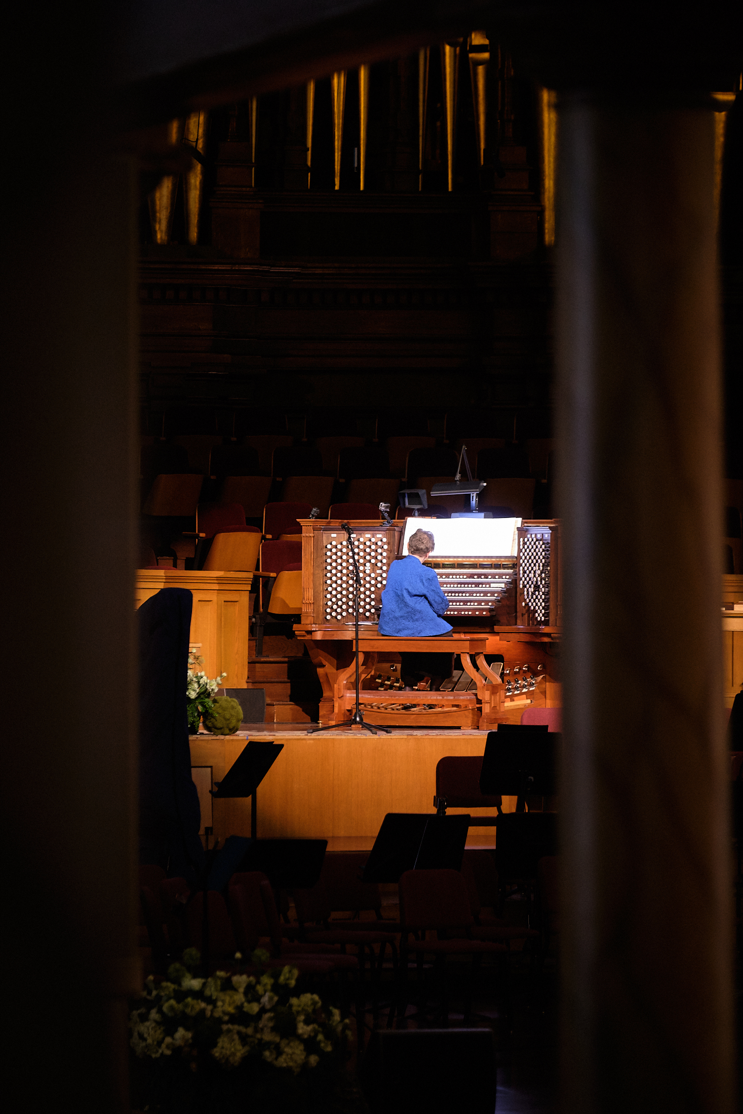 Retiring Temple Square organist Bonnie Goodliffe performs in a recital at the Salt Lake Tabernacle on Monday, Oct. 21, 2019.
