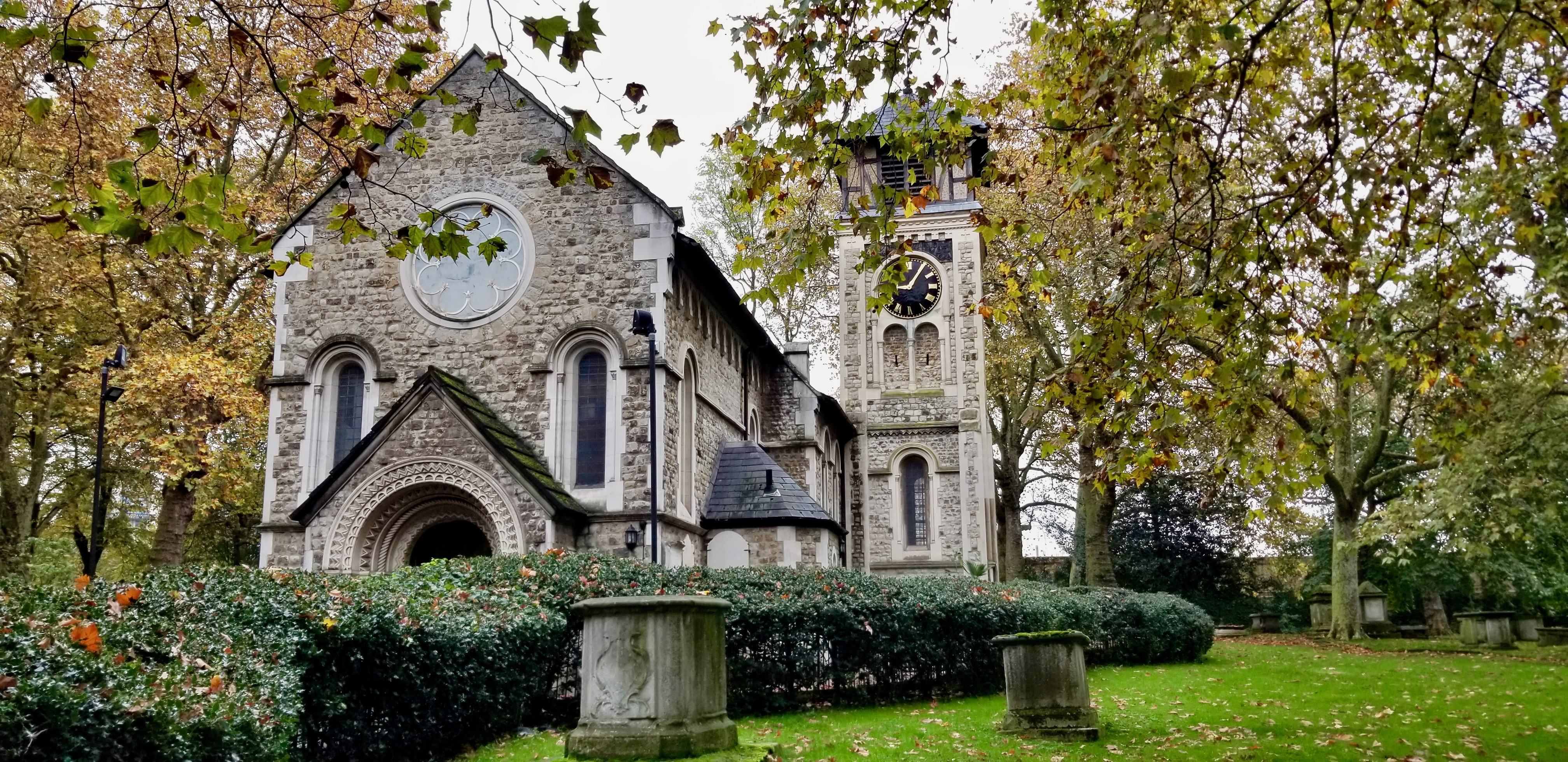 The St. Pancras Old Church in London on Oct. 25, 2019.