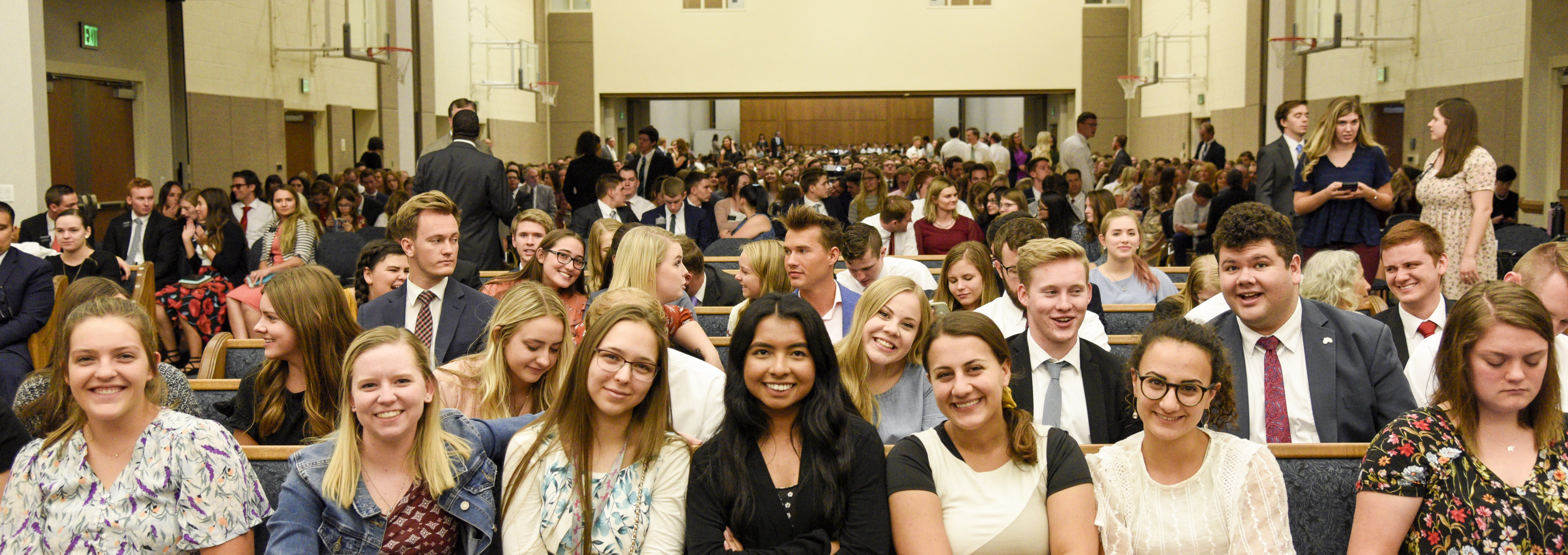 Young adults gather for a devotional given by Elder Ronald A. Rasband at the Tempe Arizona Institute of Religion on Oct. 20.