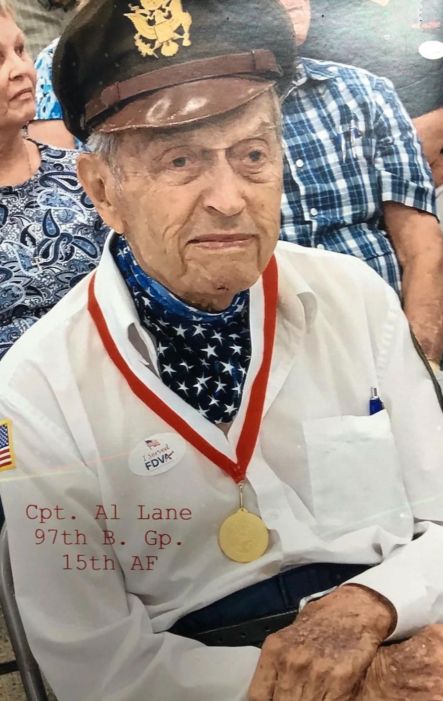Albert Lane, a WWII vet and recent convert to The Church of Jesus Christ of Latter-day Saints.