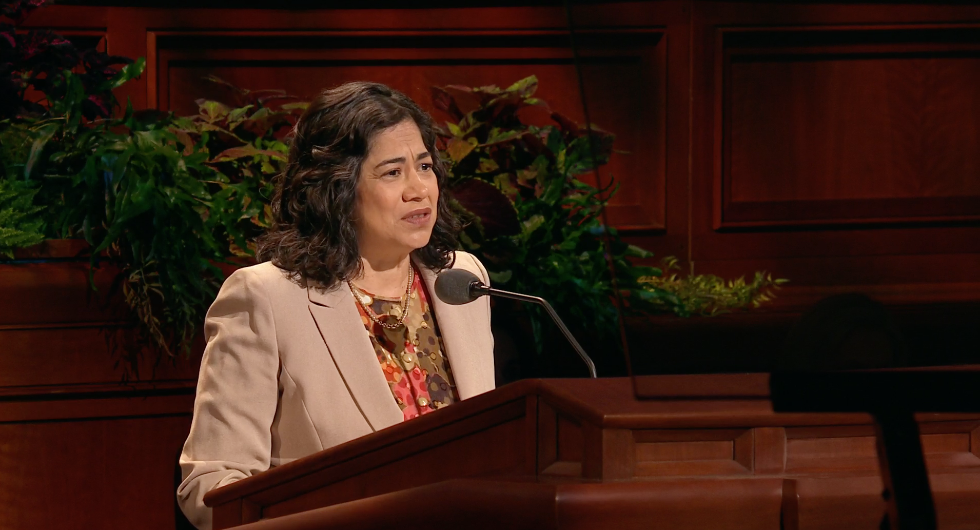 Sister Reyna I. Aburto, second counselor in the Relief Society general presidency, speaks during the general women's session in the 189th Semiannual General Conference of the Church on Oct. 5, 2019.