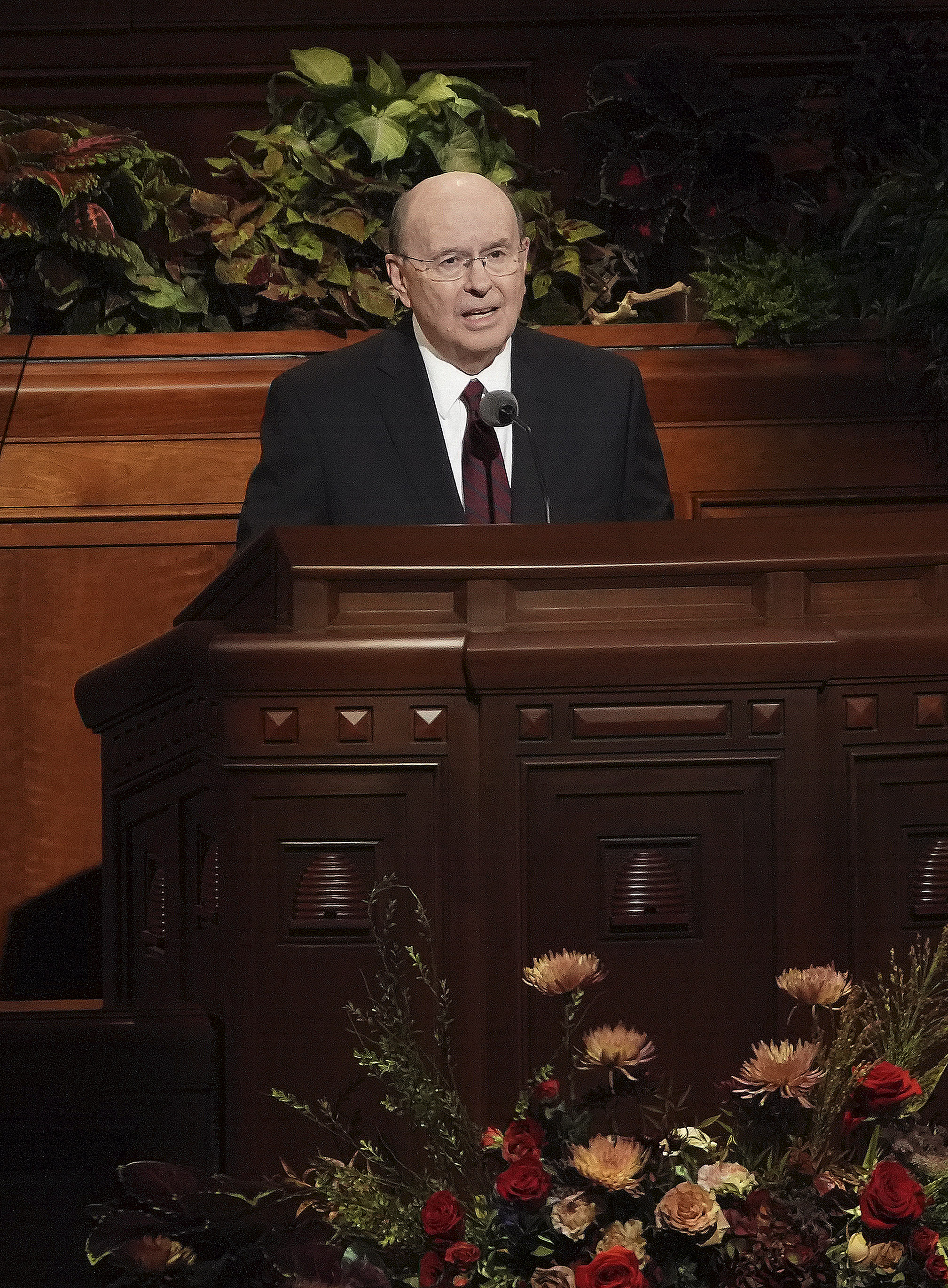 Elder Quentin L. Cook of the Quorum of the Twelve Apostles speaks during the Saturday afternoon session of the 189th Semiannual General Conference of The Church of Jesus Christ of Latter-day Saints in the Conference Center in Salt Lake City on Saturday, Oct. 5, 2019.