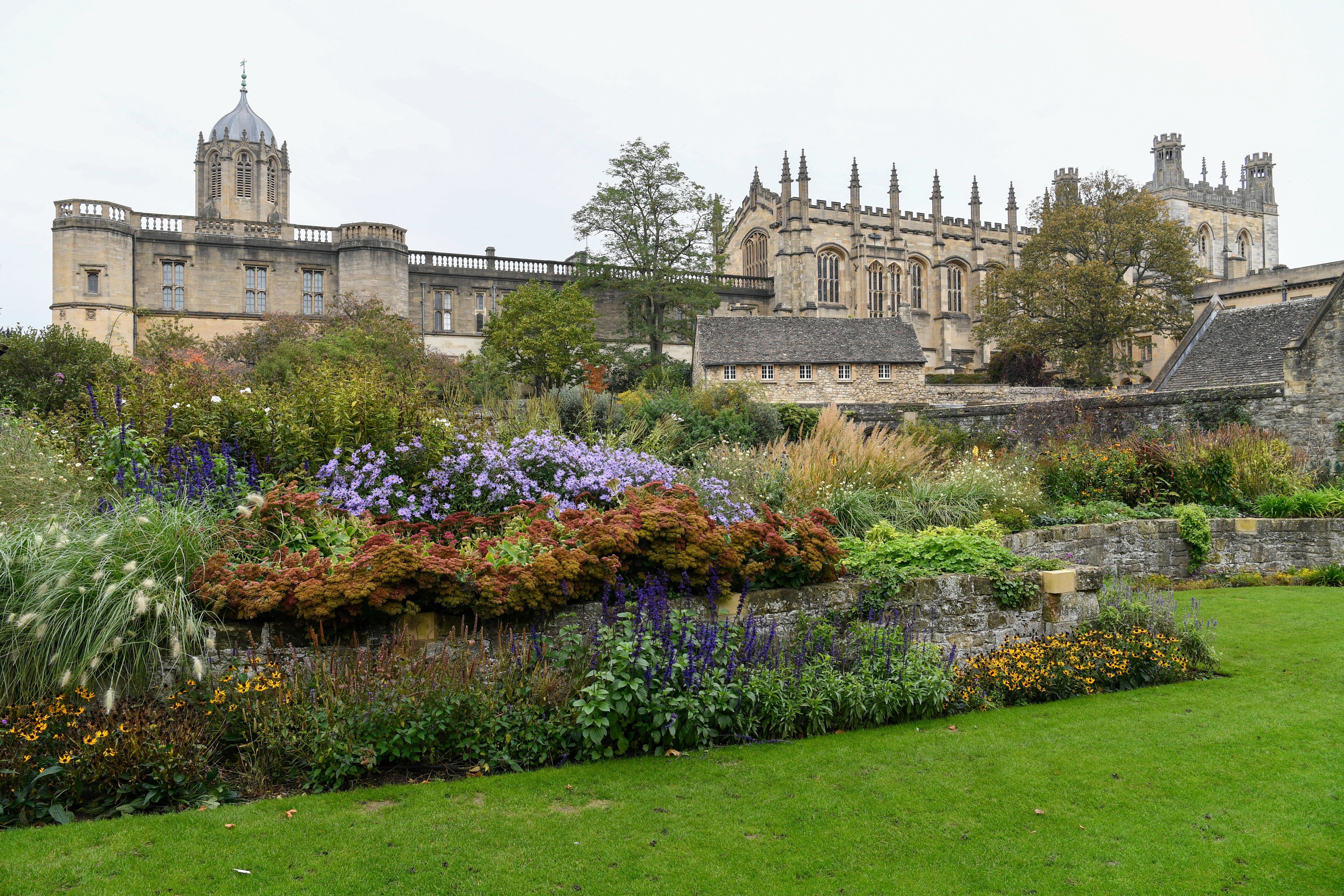 The gardens outside Christ Church college at the University of Oxford. Elder Quentin L. Cook of the Quorum of the Twelve Apostles, visits the University of Oxford in Oxford, England, on Oct. 23, 2019.