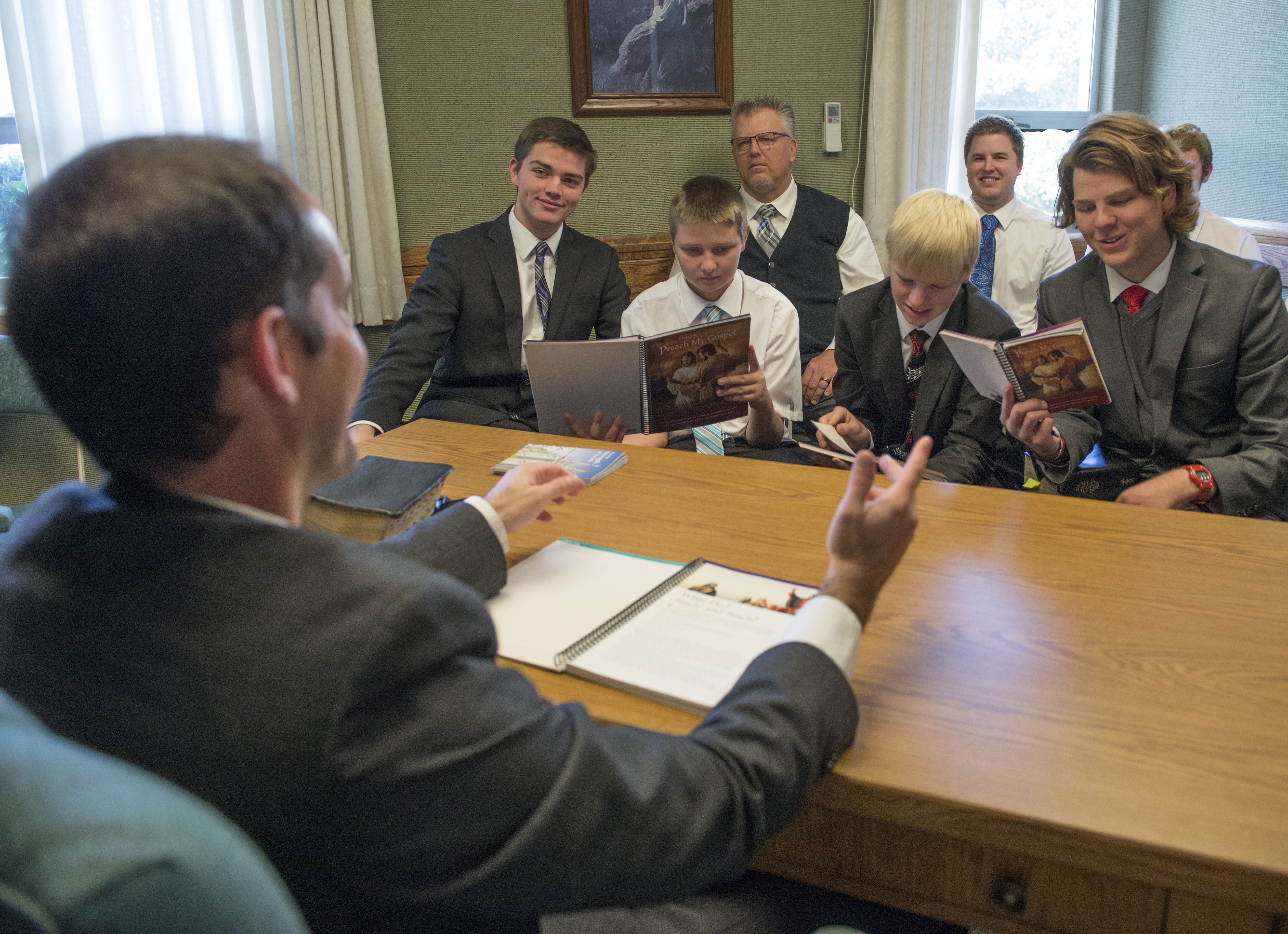 The bishop meets with young men. As President Russell M. Nelson emphasized in the October general conference, the primary responsibility of a bishop is to care for the youth.