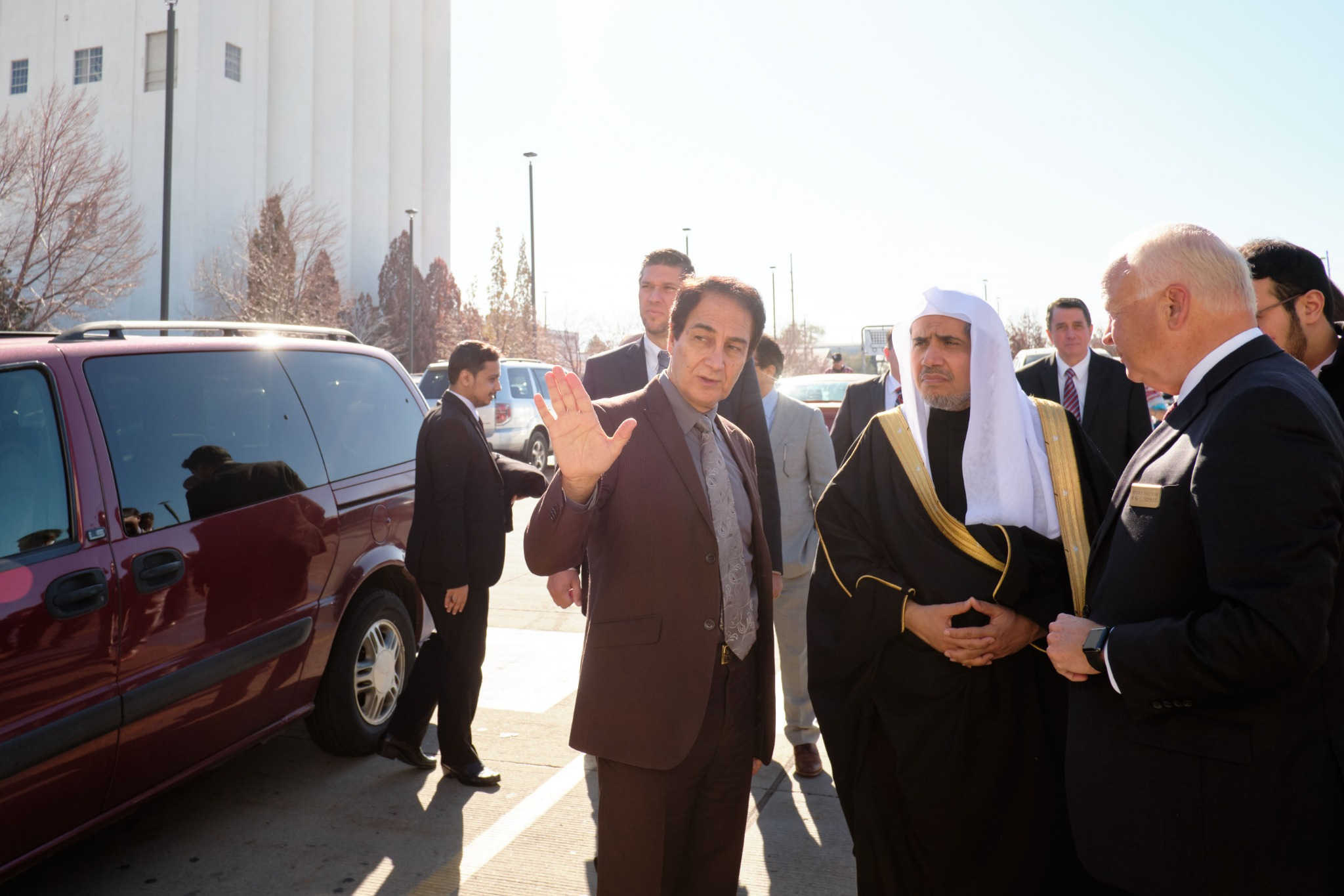 His Excellency Dr. Mohammad Al-Issa, secretary-general of the Muslim World League, tours Welfare Square in Salt Lake City on Nov. 5, 2019.