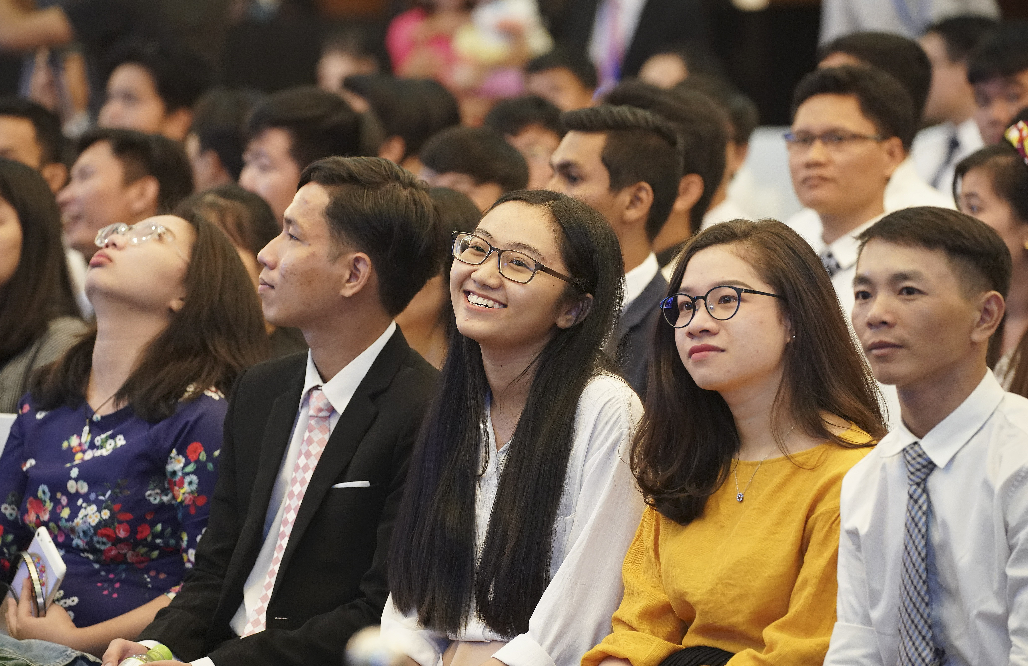 Attendees listen to President Russell M. Nelson of The Church of Jesus Christ of Latter-day Saints during a devotional in Ho Chi Minh City, Vietnam, on Nov. 18, 2019.
