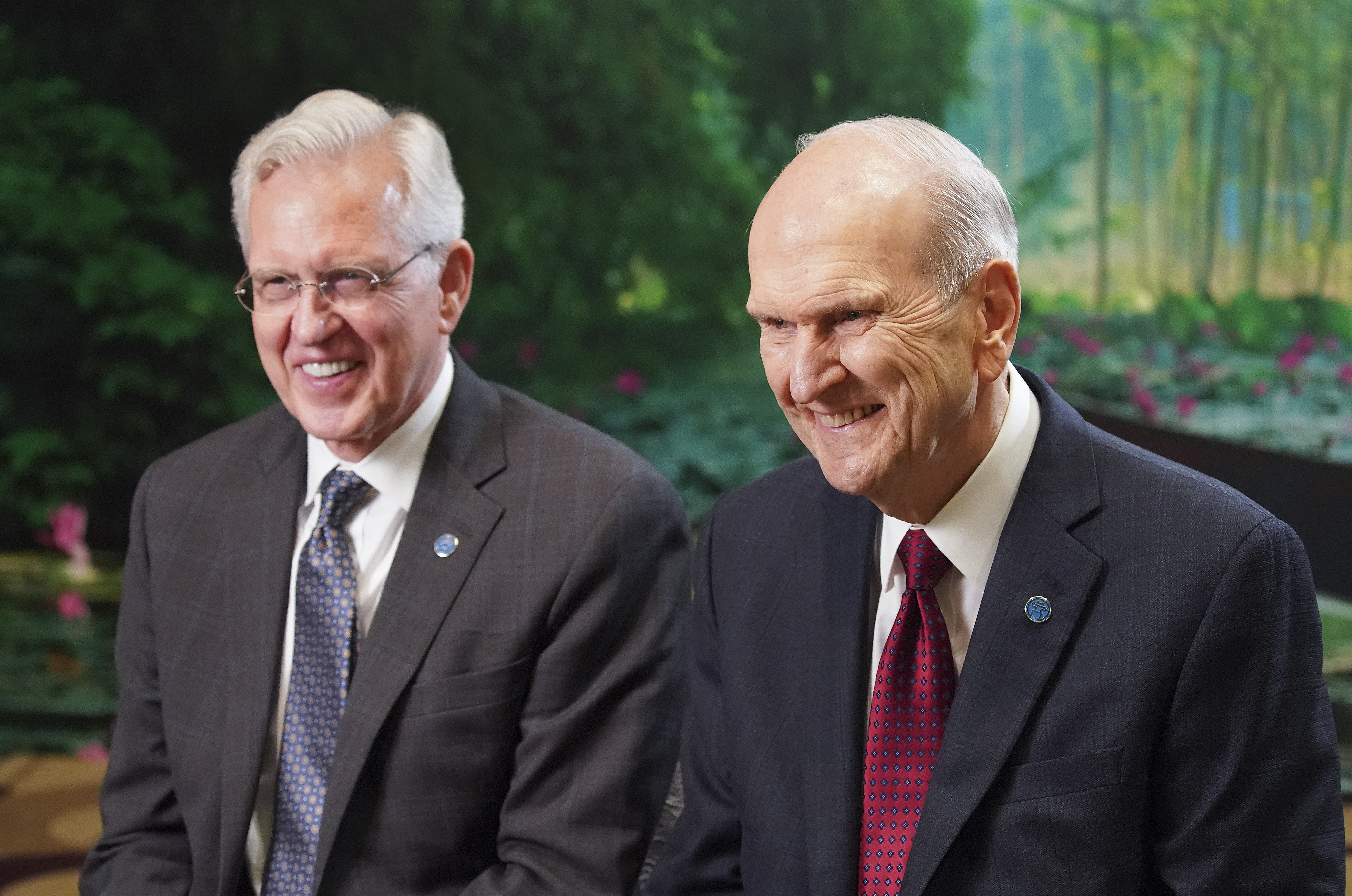 President Russell M. Nelson of The Church of Jesus Christ of Latter-day Saints, and Elder D. Todd Christofferson, of The Church of Jesus Christ of Latter-day Saints' Quorum of the Twelve Apostles, sit together in Hanoi, Vietnam on Sunday, Nov. 17, 2019.