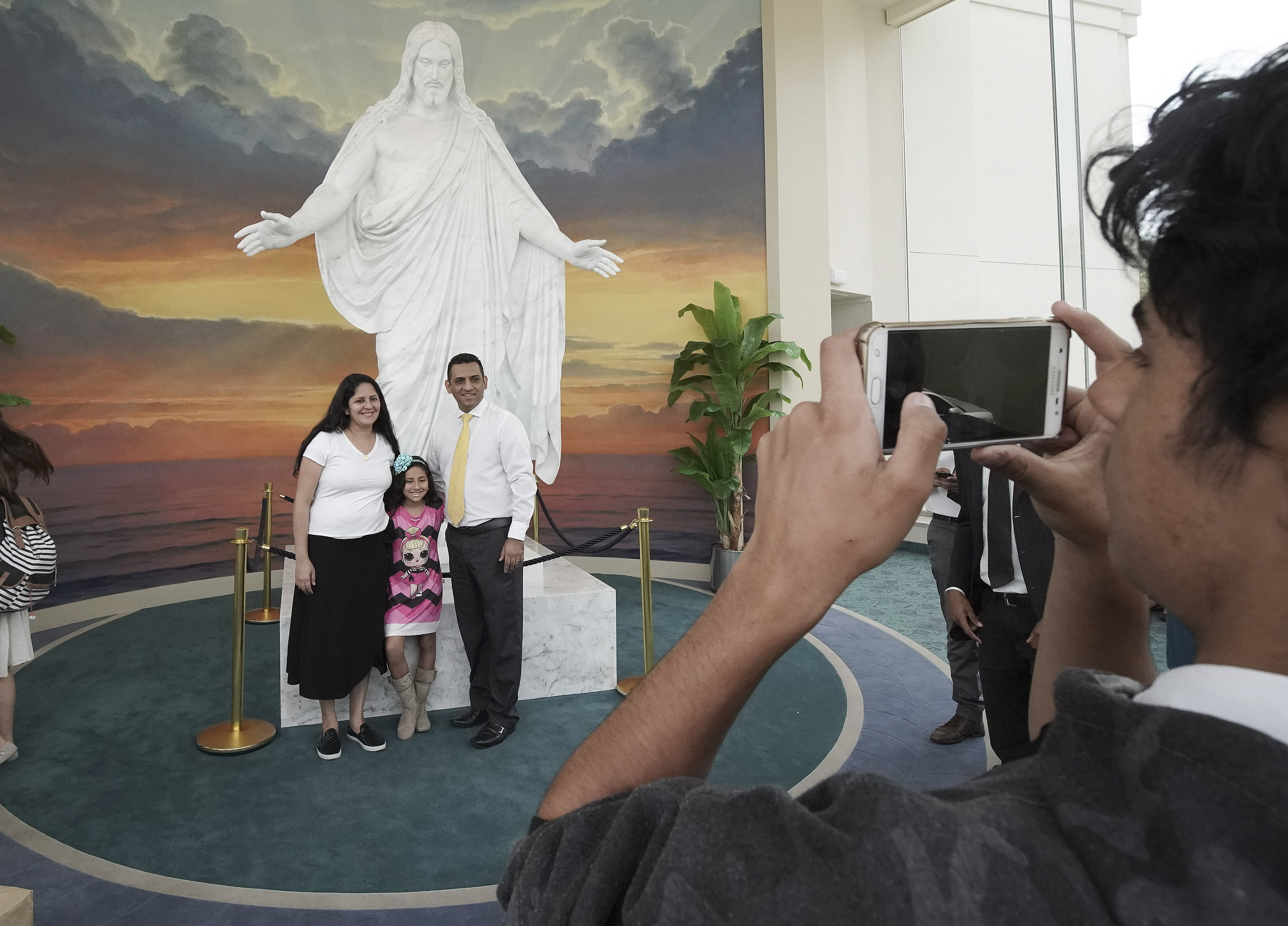 Photos are taken in the Sao Paulo Brazil Temple Visitors' Center in Sao Paulo, Brazil, on Aug. 31, 2019.