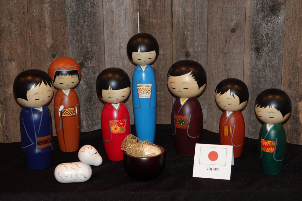 A Creche set from Japan is on display at the Festival of Lights at the Washington D.C. Temple Visitors' Center on Tuesday, Dec. 3, 2019.